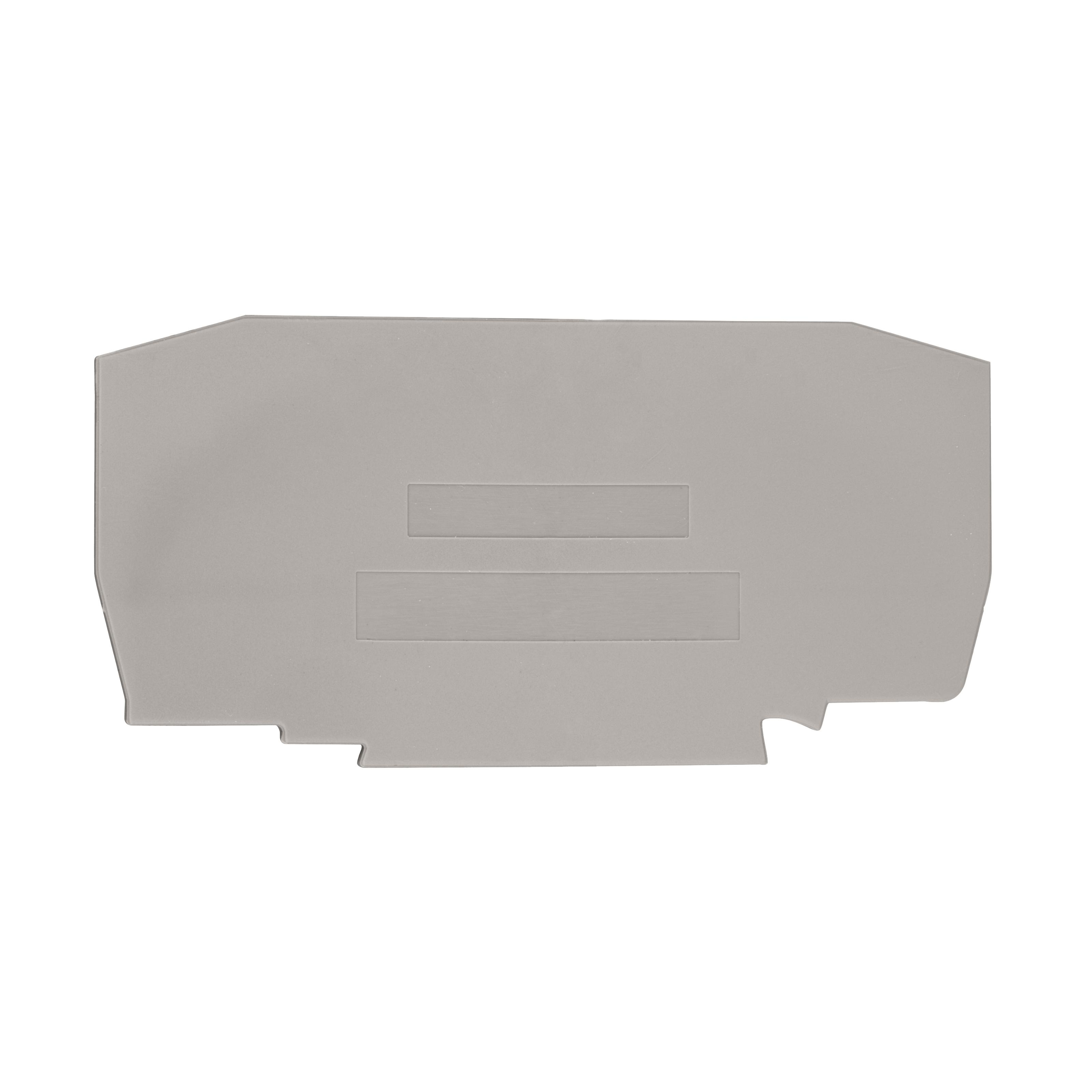 1 Stk Endplatte für Federkraftklemme YBK 10 grau IK610210--