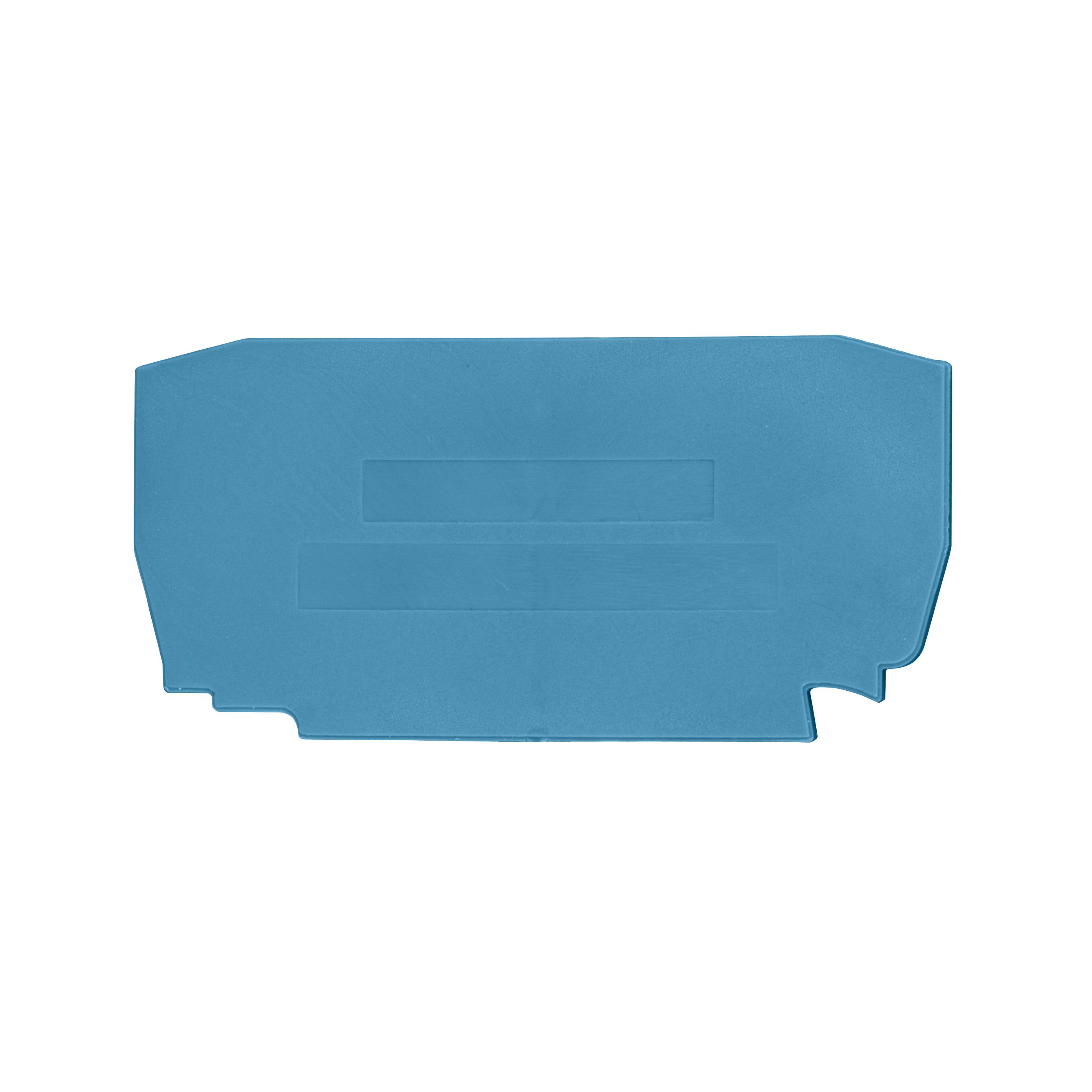 1 Stk Endplatte für Federkraftklemme YBK 2.5 blau IK611202--