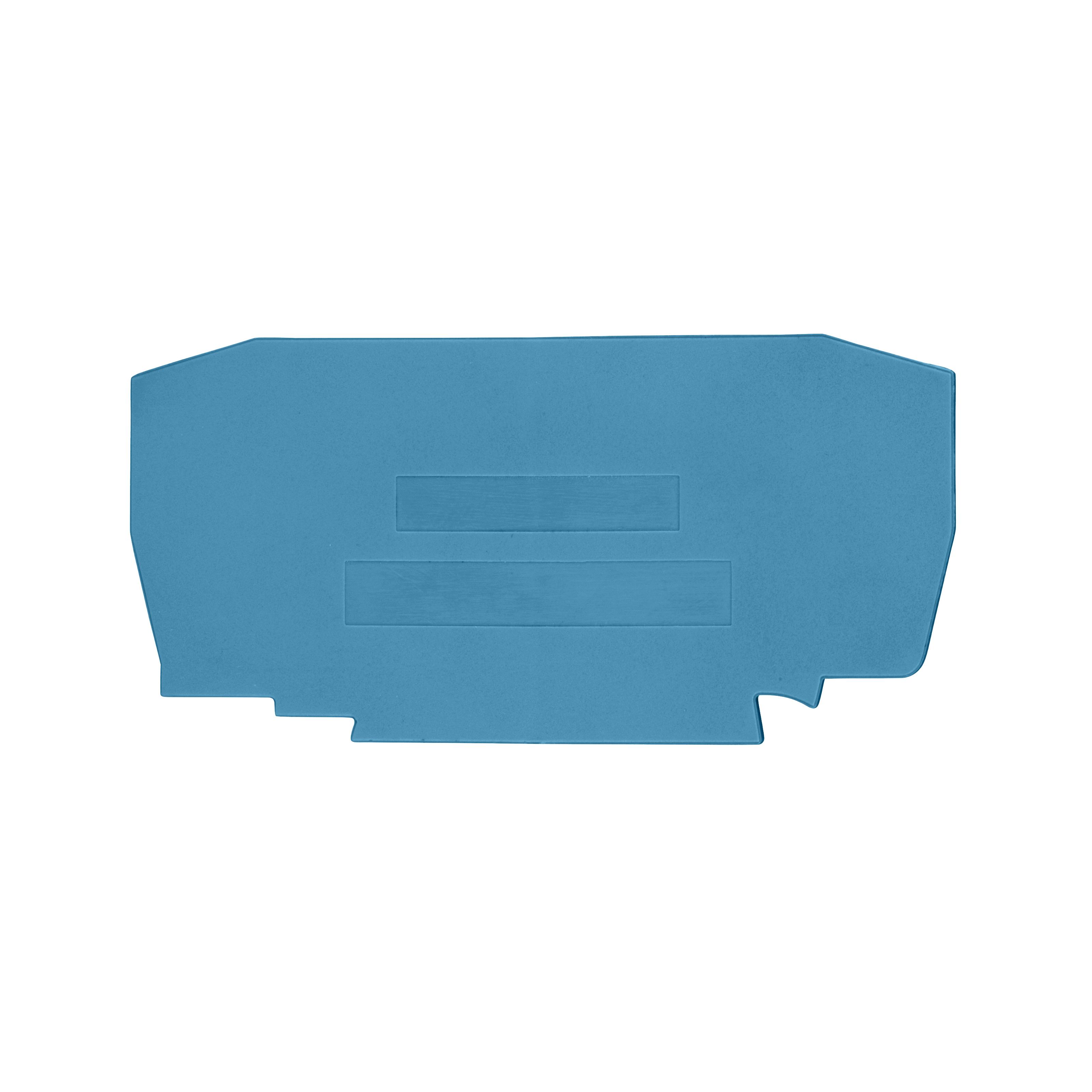 1 Stk Endplatte für Federkraftklemme YBK 6 blau IK611206-A