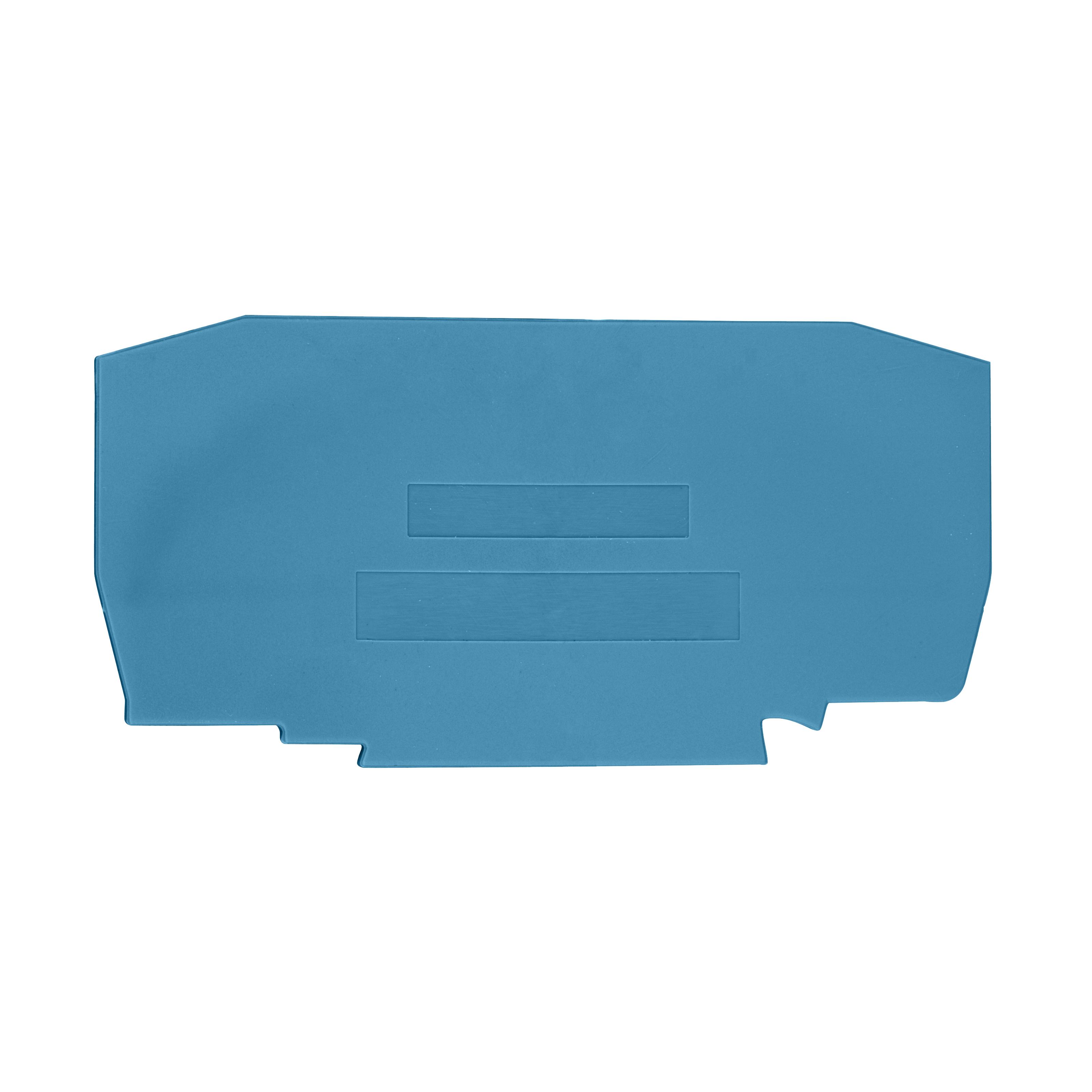 1 Stk Endplatte für Federkraftklemme YBK 10 blau IK611210-A