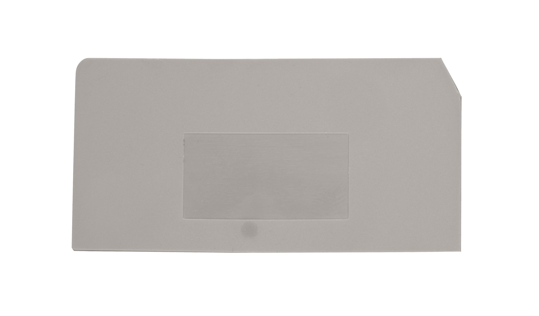 1 Stk Endplatte für Sicherungsklemme ASK 2 S grau IK631204--