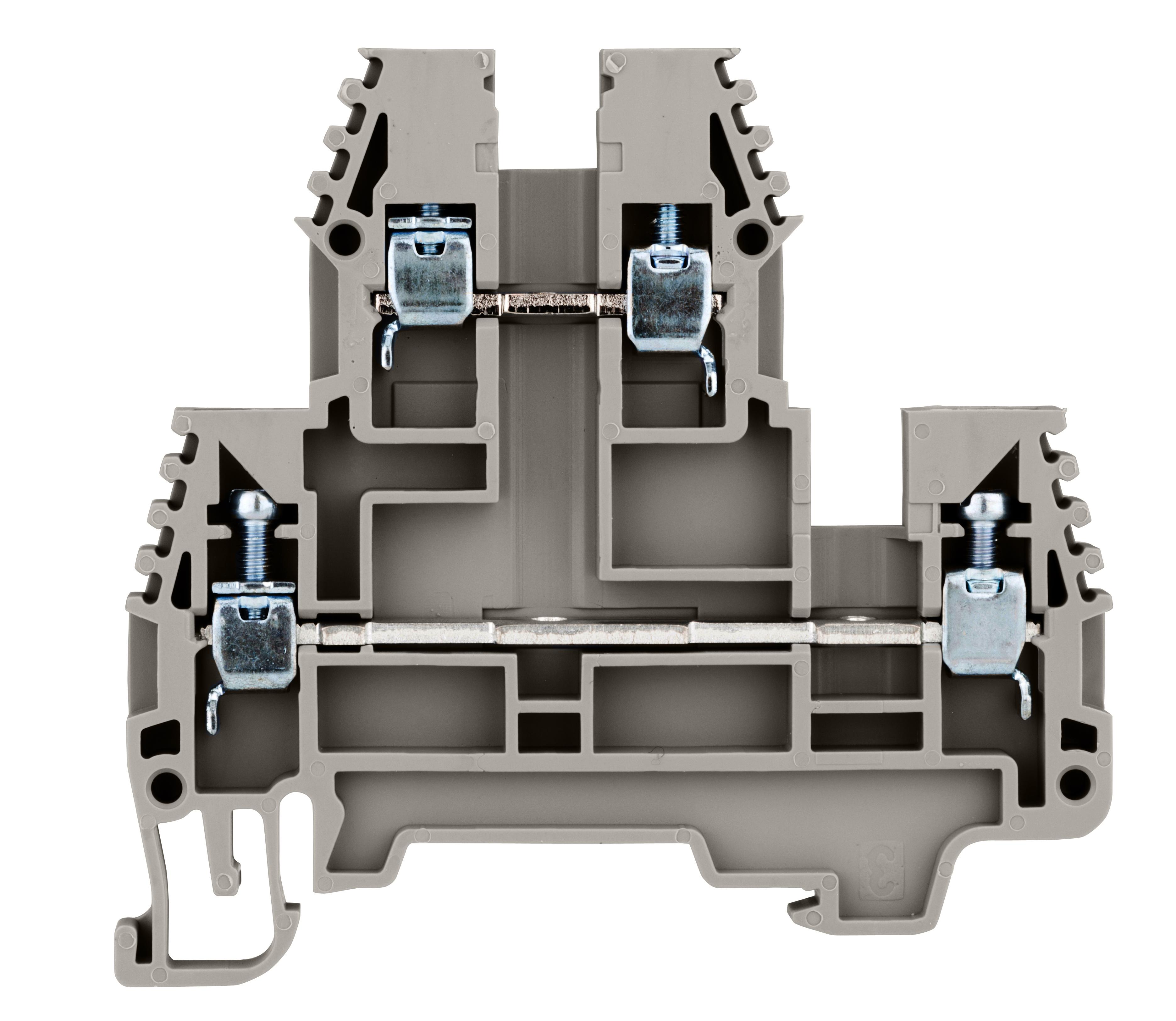 1 Stk Doppelstockklemme 2,5mm², Type PIK 2.5 N grau IK650002--