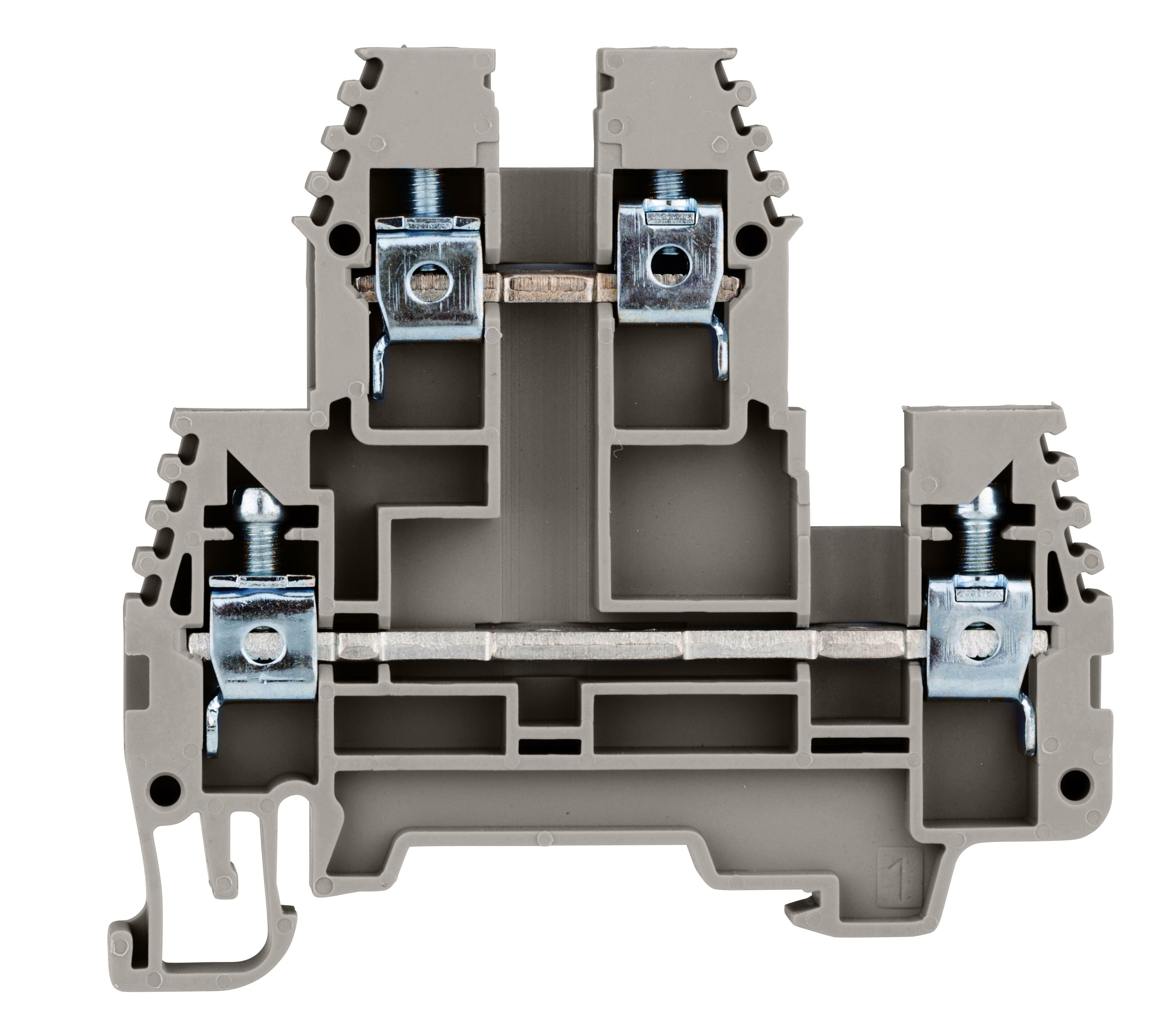 1 Stk Doppelstockklemme 4mm², Type PIK 4 N grau IK650004--