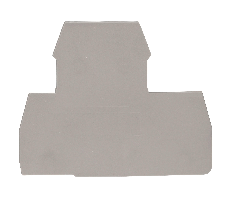 1 Stk Endplatte für Doppelstockklemmen PIK 2.5 N und 4 N grau IK650204--