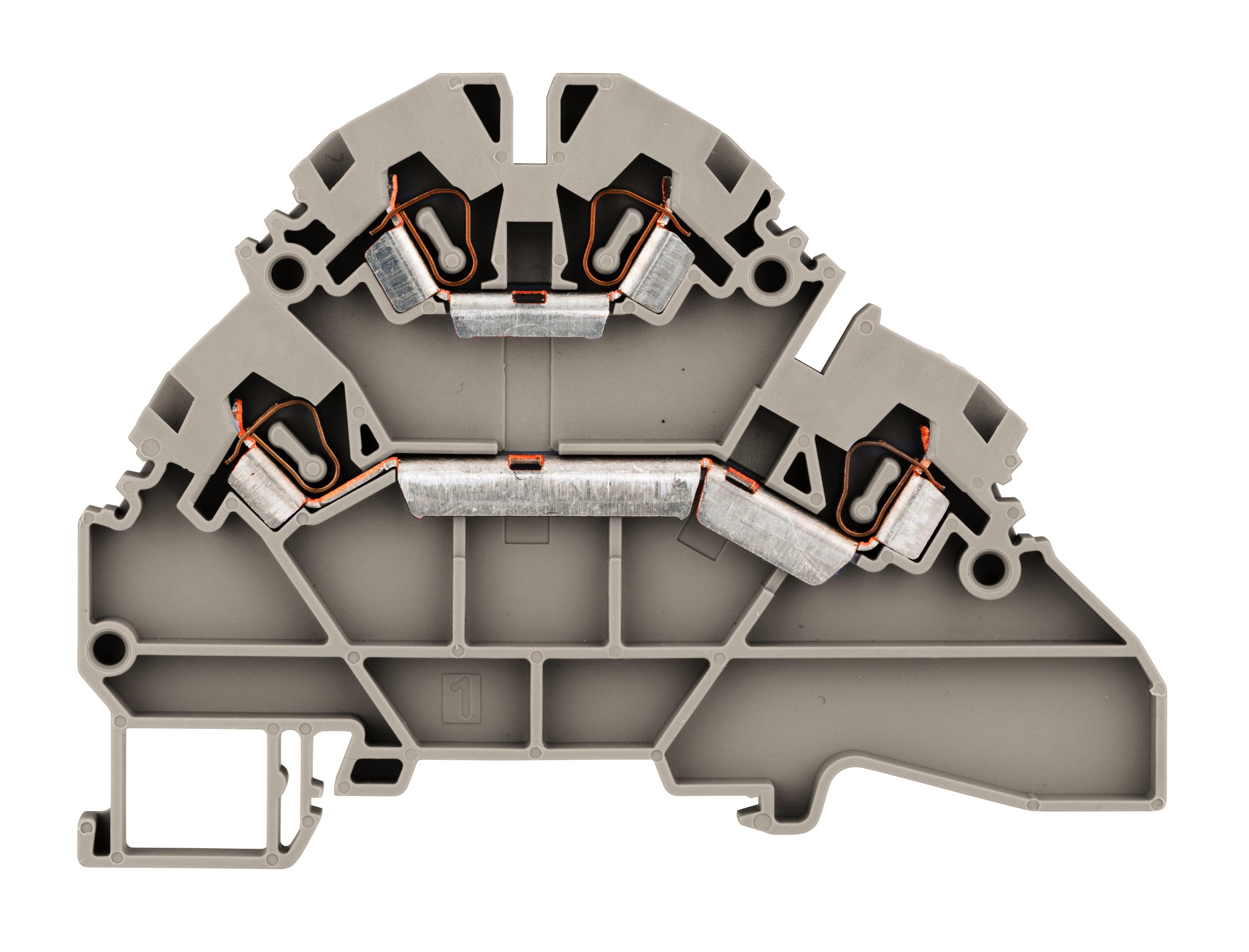1 Stk Doppelstockklemme 2,5mm², Type YBK 2.5 - 2 F grau IK660002--