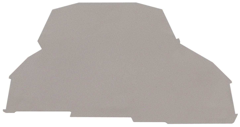 1 Stk Endplatte für Doppelstockklemme YBK 4 - 2 F grau IK660204--