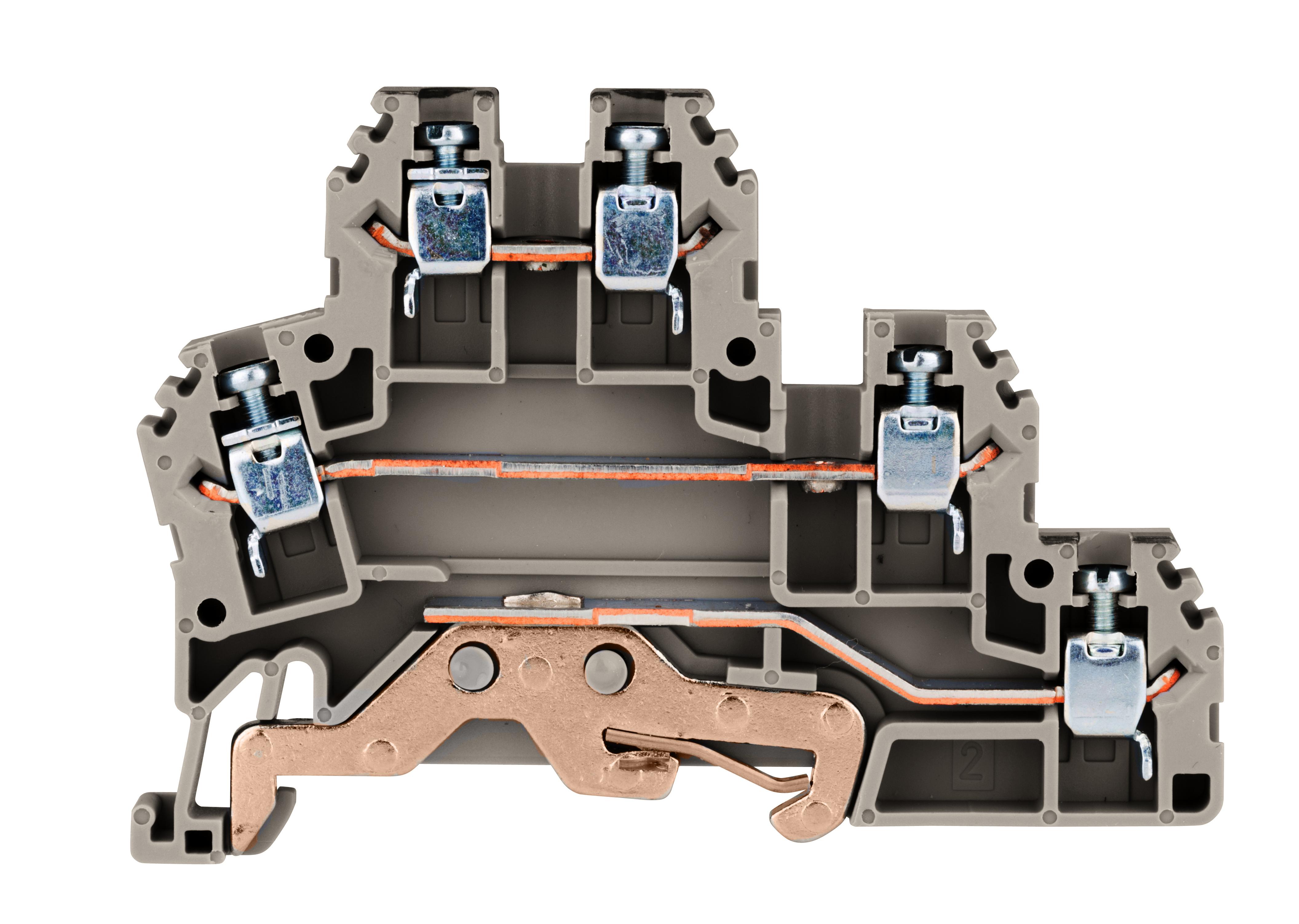 1 Stk Dreistockklemme 2,5mm² (L/N/PE), Type PUK 2 T grau IK680002--