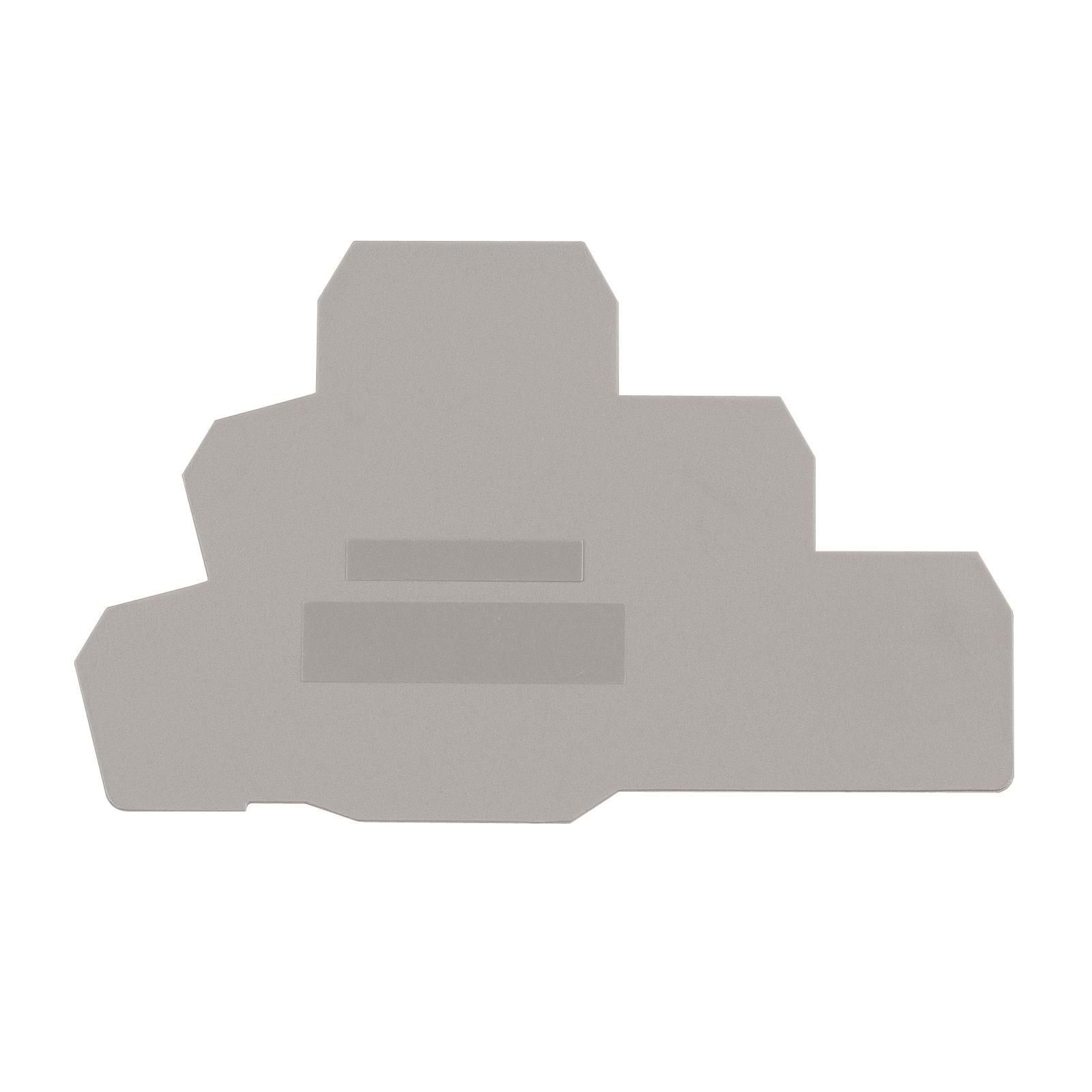 1 Stk Endplatte für Dreistockklemme PUK 3 grau IK680201--