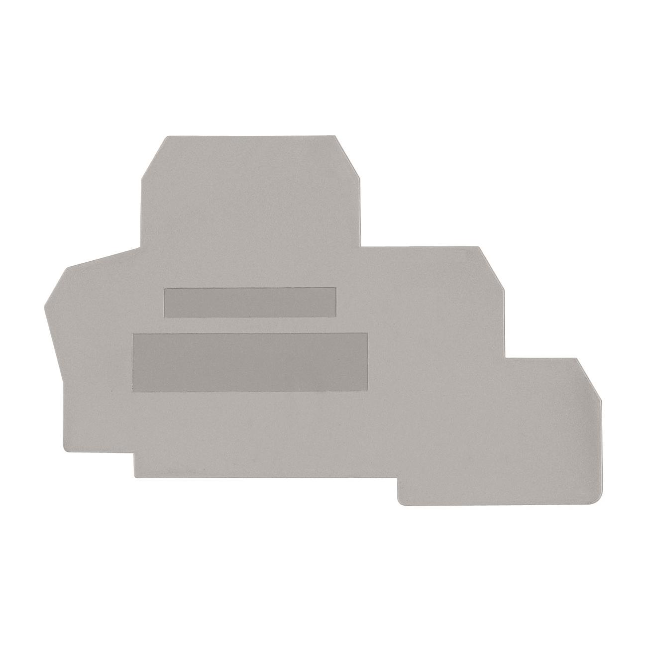1 Stk Endplatte für Dreistockklemmen PUK 2 T grau IK680202--