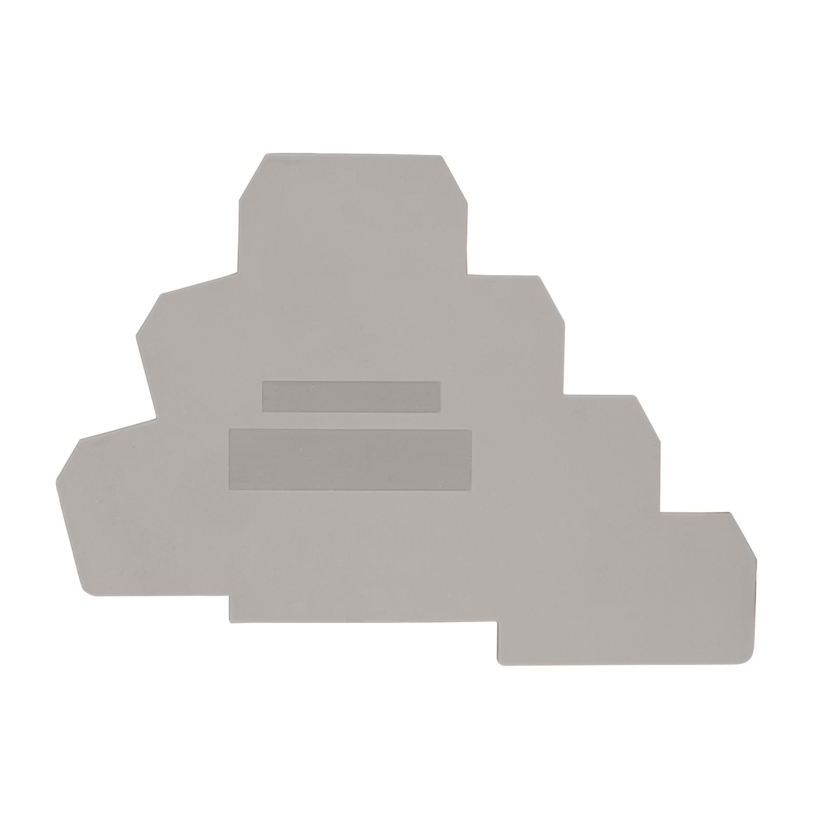 1 Stk Endplatte für Dreistockklemme PUK 3 T grau IK680203--