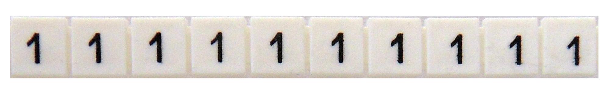1 Stk Markierungsetiketten DY 5 bedruckt mit 1 (50-mal) IK697001--
