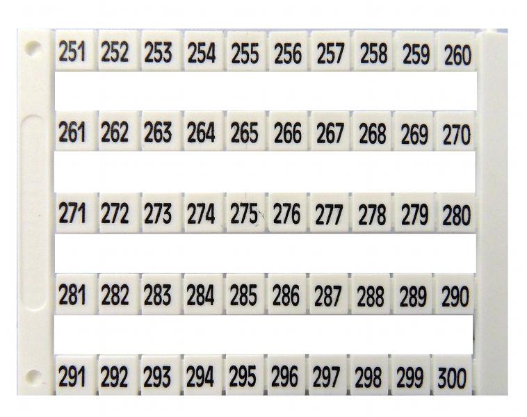 1 Stk Markierungsetiketten DY 5 bedruckt von 251-300 (1-mal) IK697045--