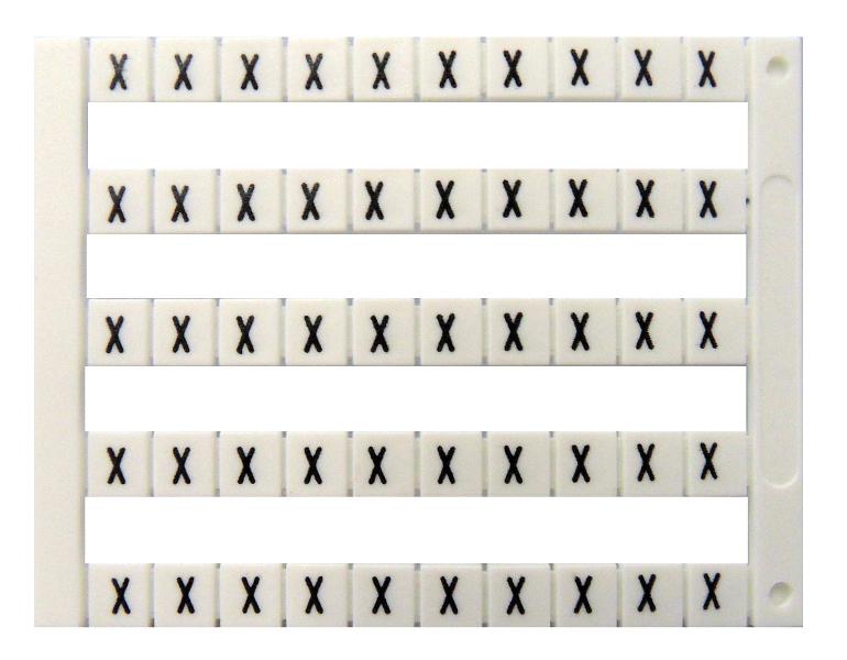 1 Stk Markierungsetiketten DY 5 bedruckt mit X (50-mal) IK697083--