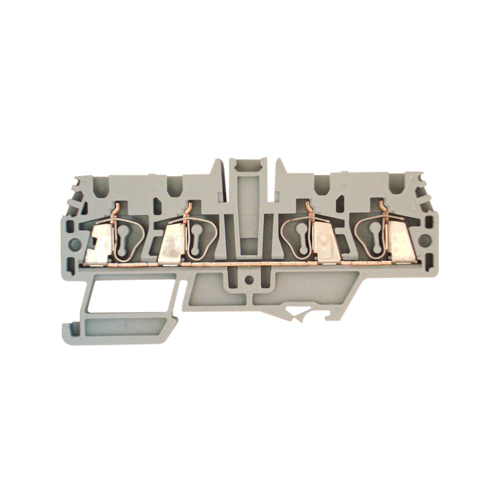 1 Stk Doppel-Federkraftklemme HMM.2/2+2 grau, 2,5mm² IK800002-C