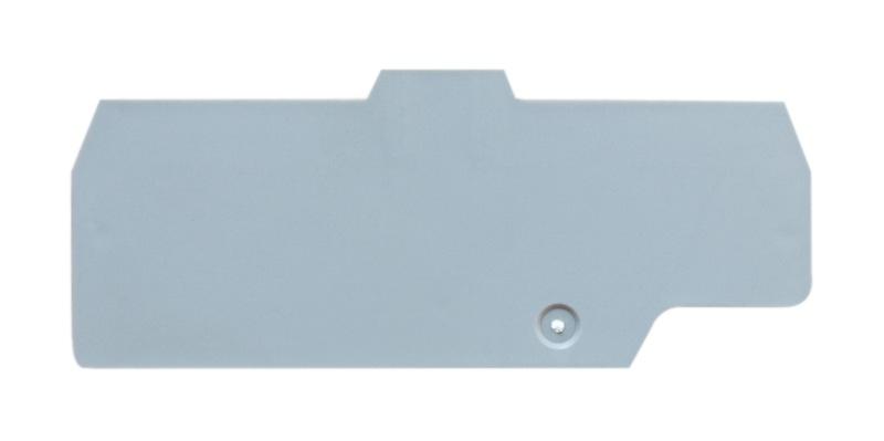 1 Stk Endplatte grau für Doppel-Federkraftklemme HMM.2/2+2 IK800202-C