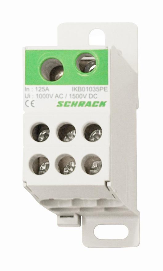 1 Stk PE-Anschlussblock, 1-polig, 125A, zu 1x35mm², ab 7x16mm² IKB01035PE