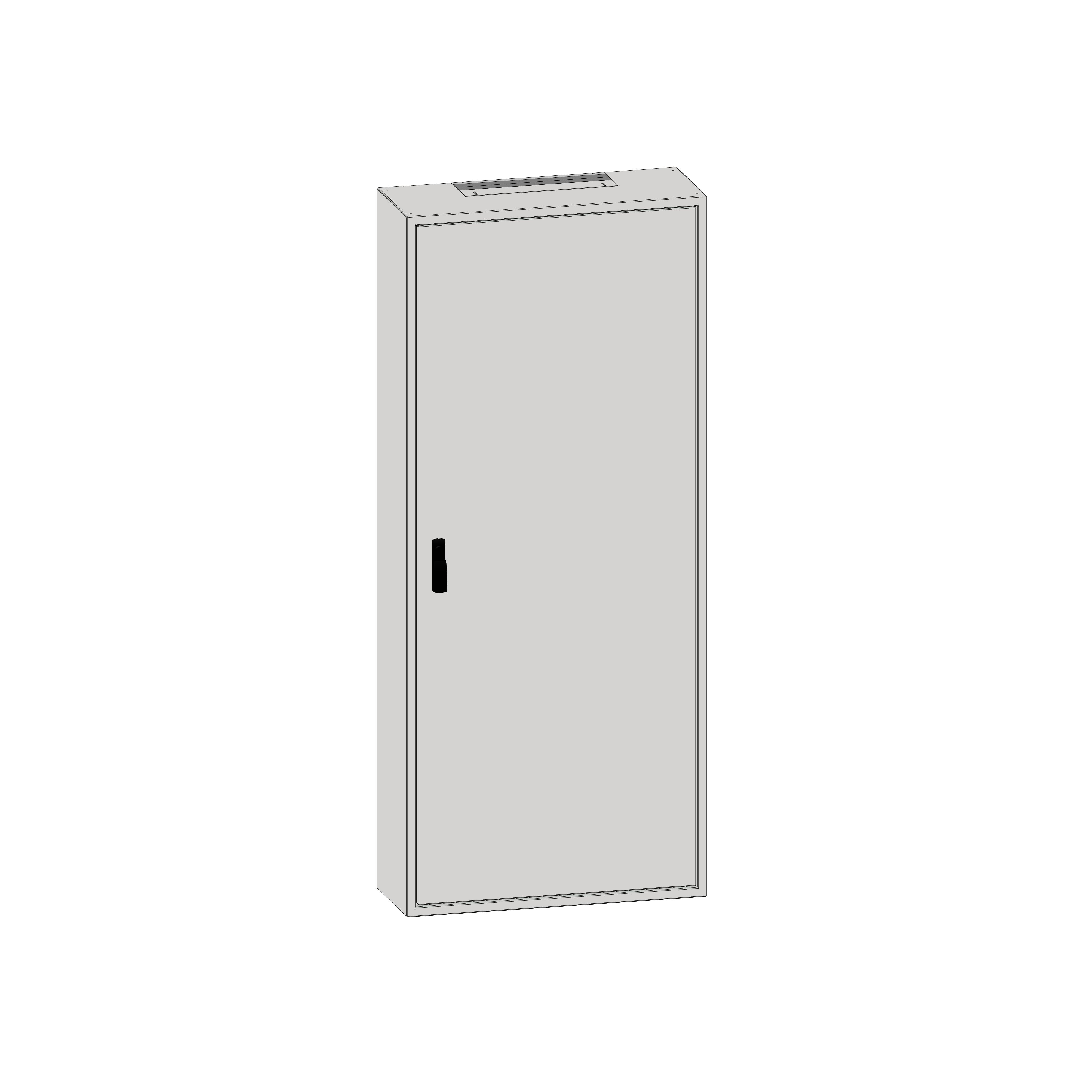 1 Stk Aufputz-Rahmen 2A-45 mit Türe, Rückwand und Schwenkhebel IL036245-F