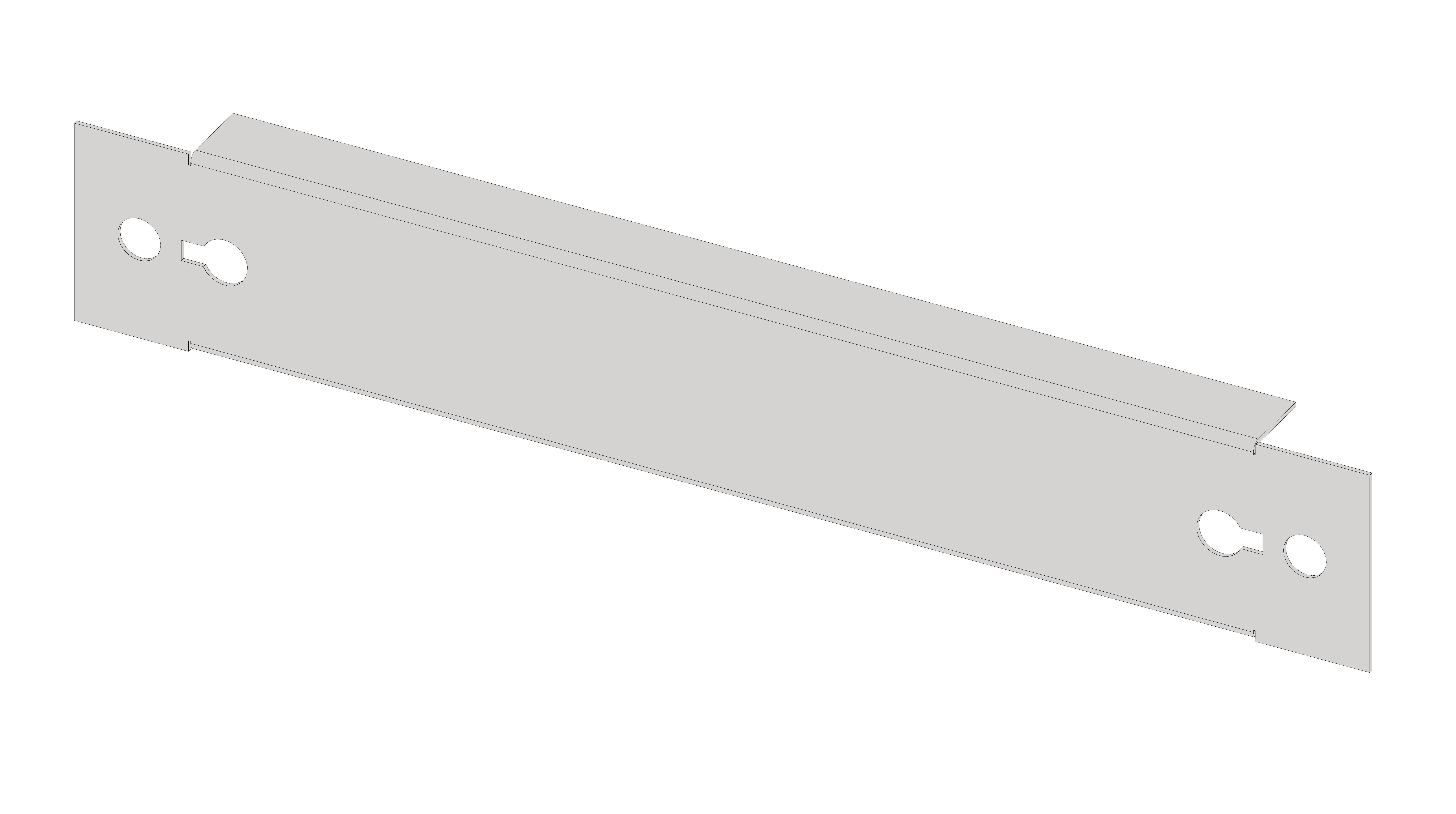 1 Stk Blindfrontplatte 1B1 Stahlblech IL056101-H