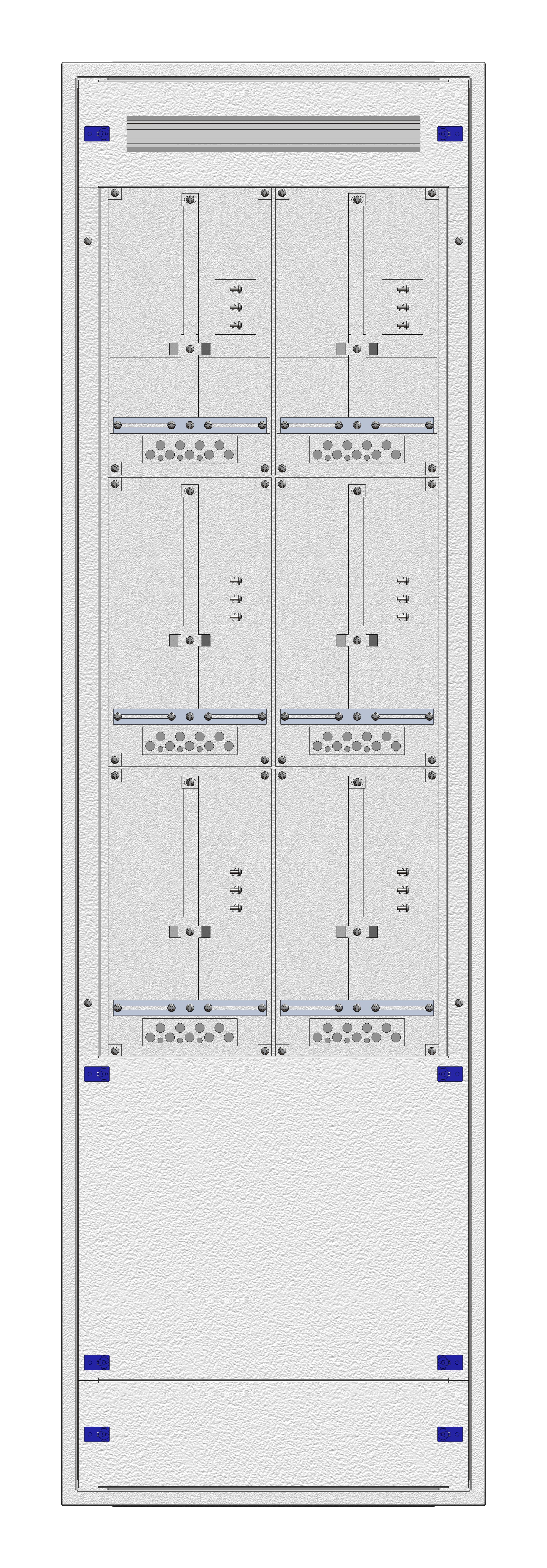 1 Stk Masken-Zählerverteiler 2M-39M/WIEN 6ZP, H1855B540T200mm IL122239WS
