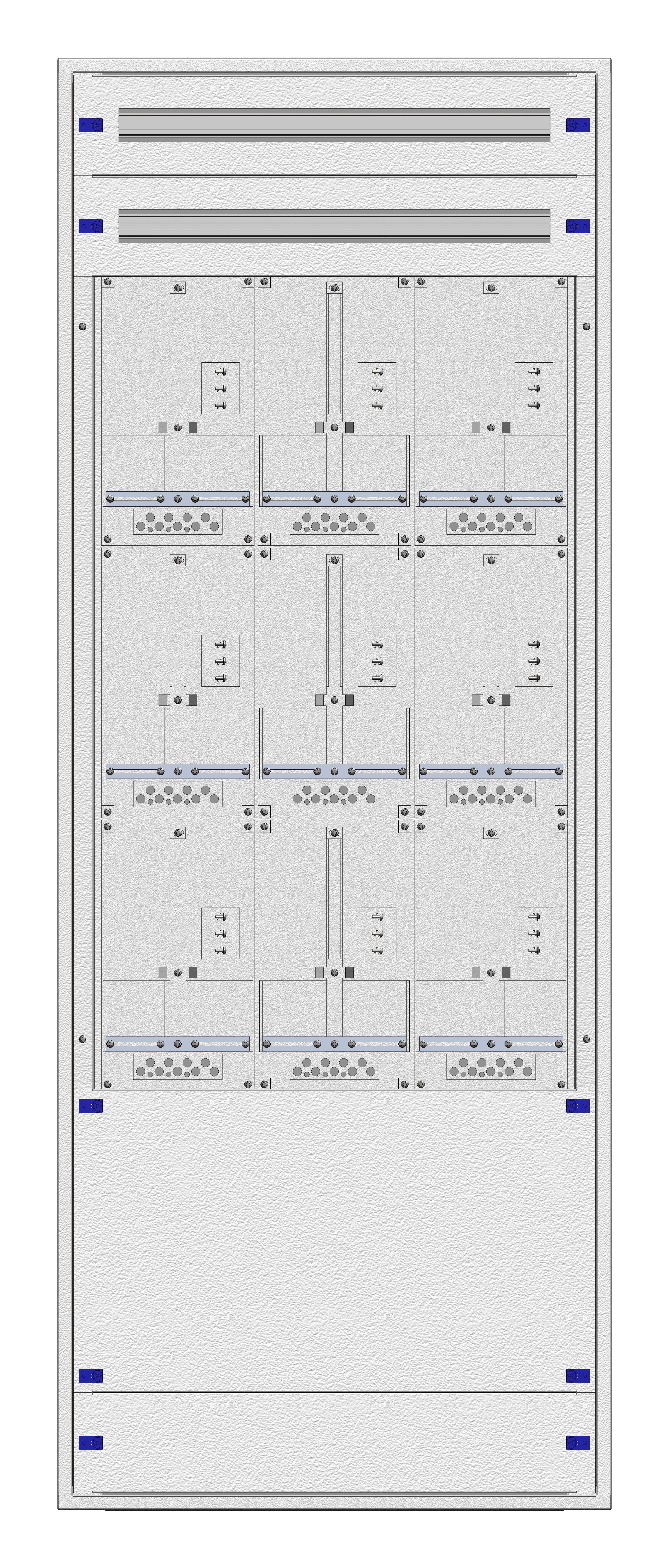 1 Stk Masken-Zählerverteiler 3M-42M/WIEN 9ZP, H1995B760T200mm IL122342WS