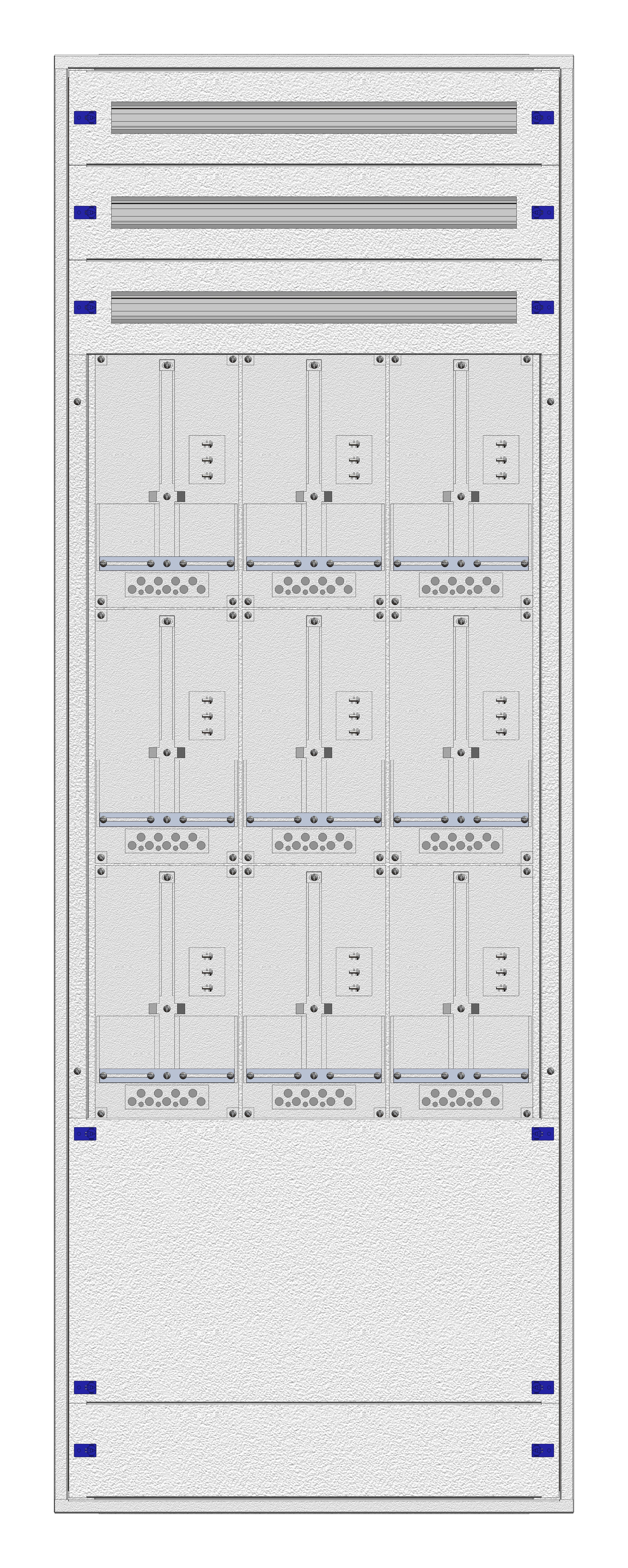 1 Stk Masken-Zählerverteiler 3M-45M/WIEN 9ZP, H2130B760T200mm IL122345WS