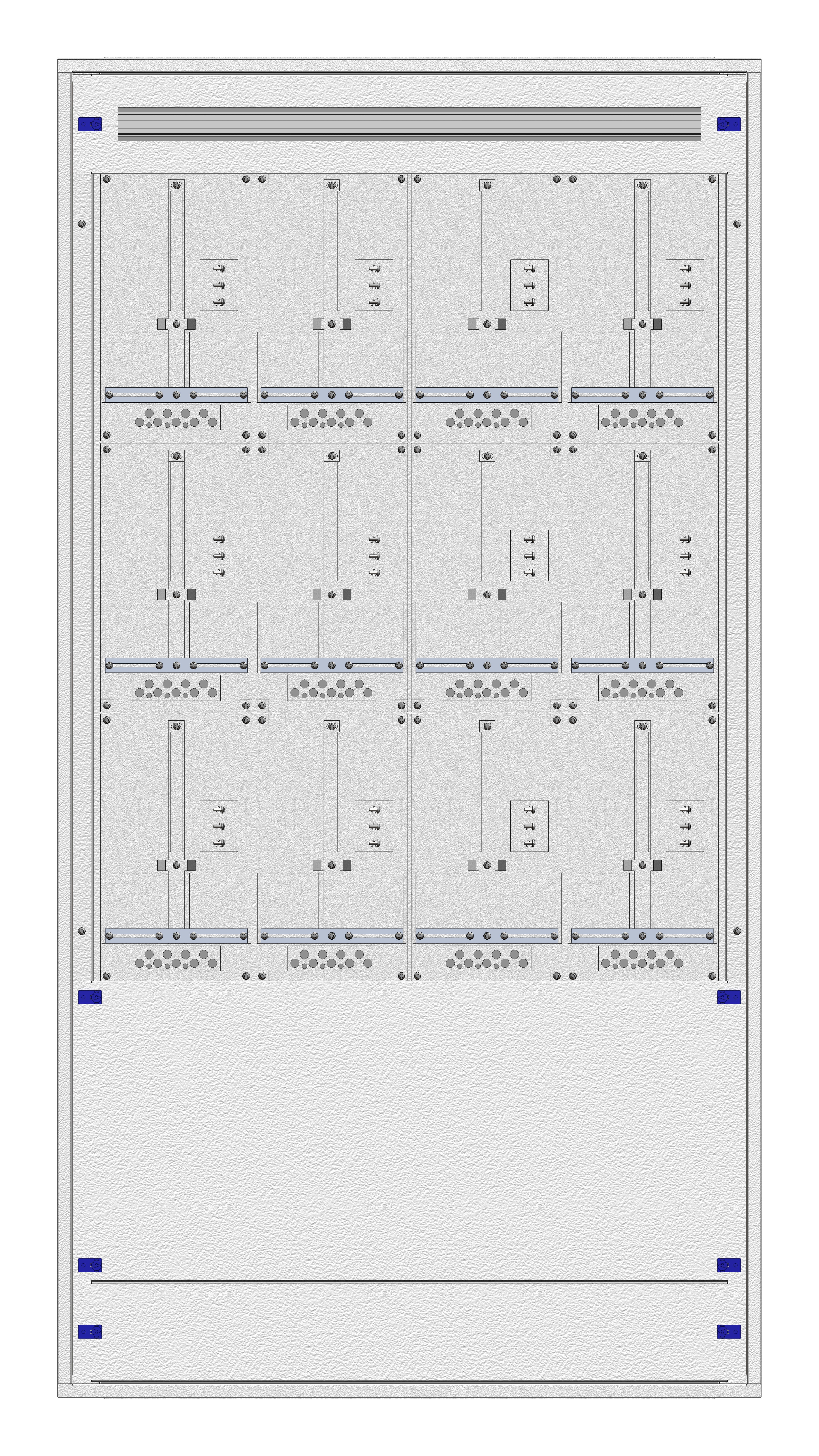 1 Stk Masken-Zählerverteiler 4M-39M/WIEN 12ZP, H1855B980T200mm IL122439WS