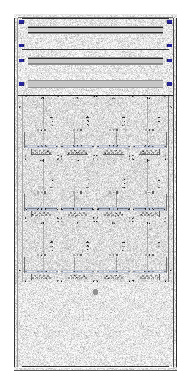 1 Stk Masken-Zählerverteiler 4M-45M/BGLD 12ZP, H2130B980T200mm IL122445BS