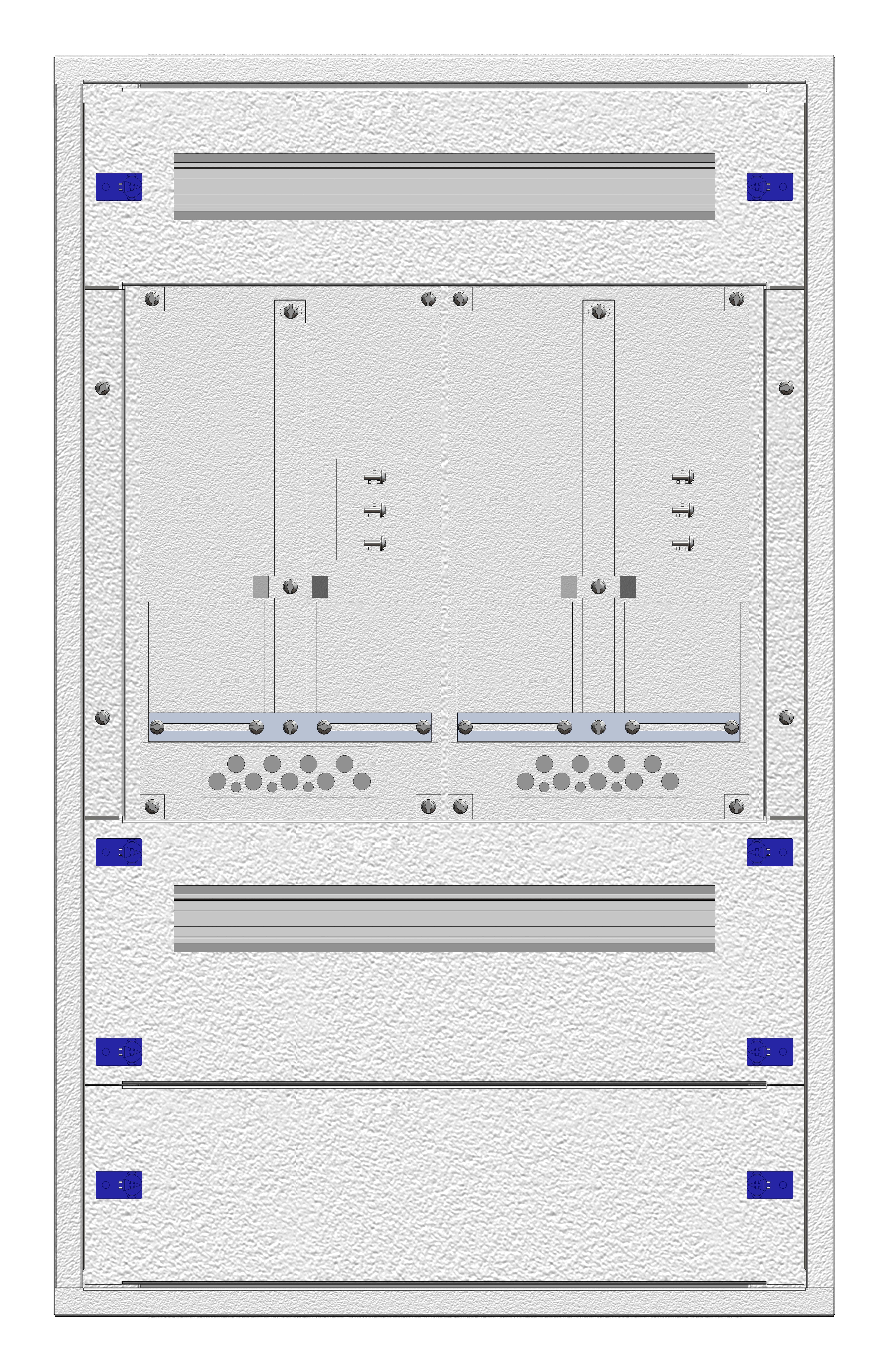 1 Stk Zählerverteiler Einsatz 2-18E, 2 Zählerplätze, Wien IL144218--