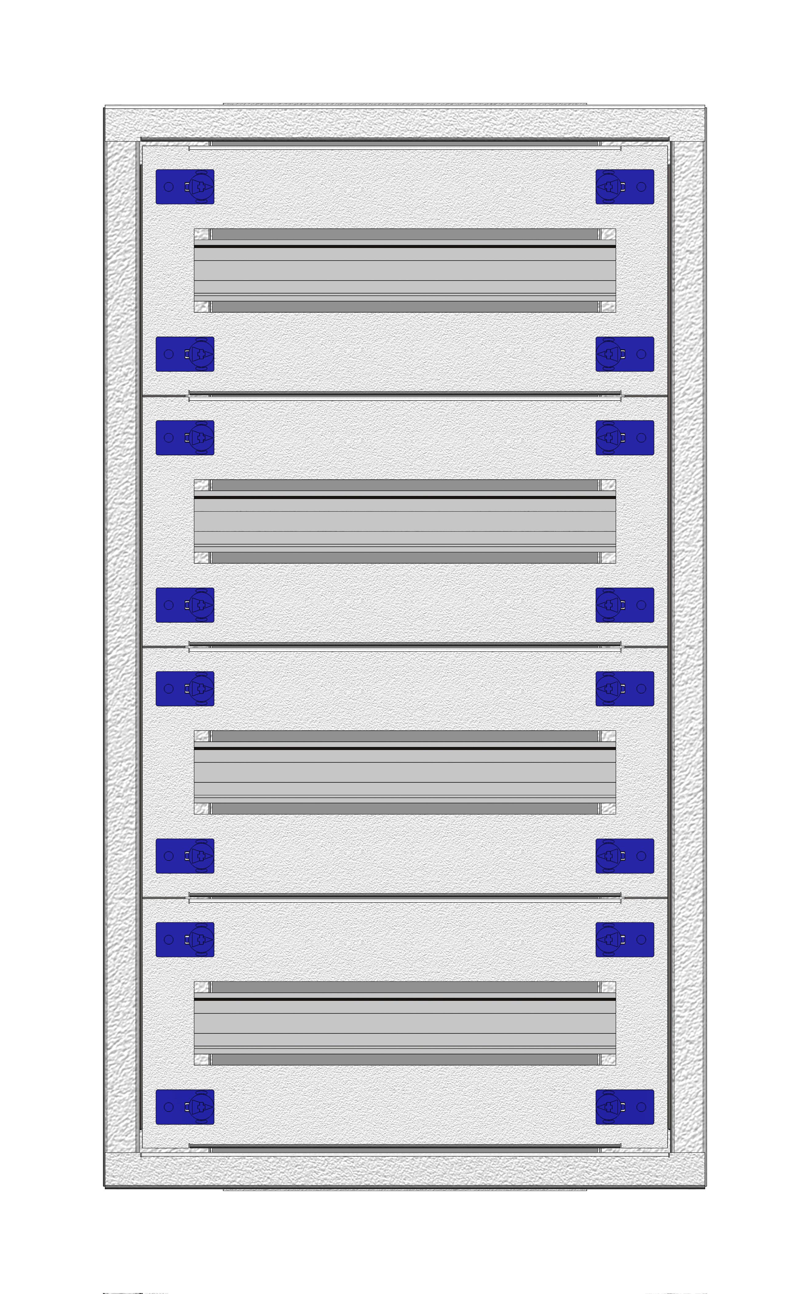 1 Stk Installationsverteiler Einsatz 1-12K, 4-reihig, Stahlblech IL148112--