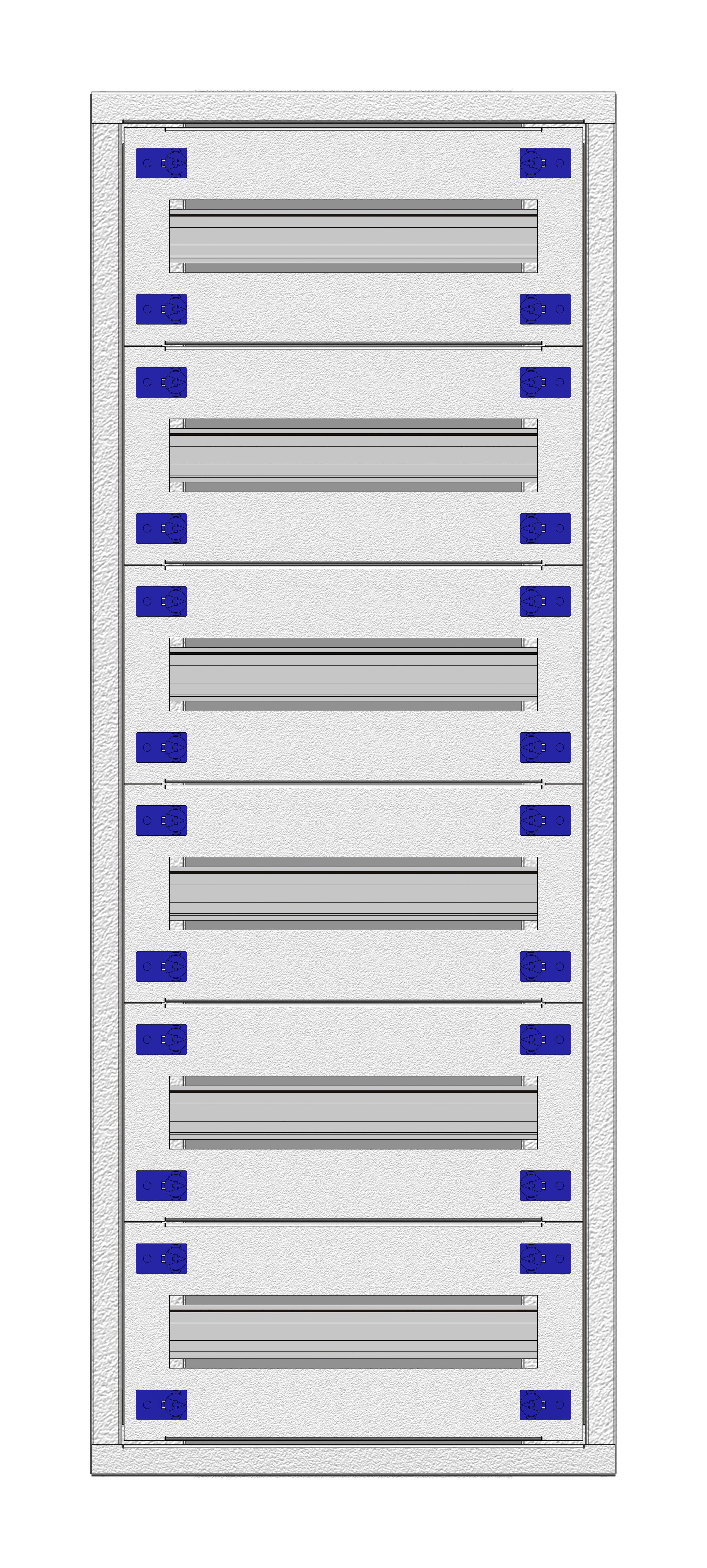 1 Stk Installationsverteiler Einsatz 1-18K, 6-reihig, Stahlblech IL148118--