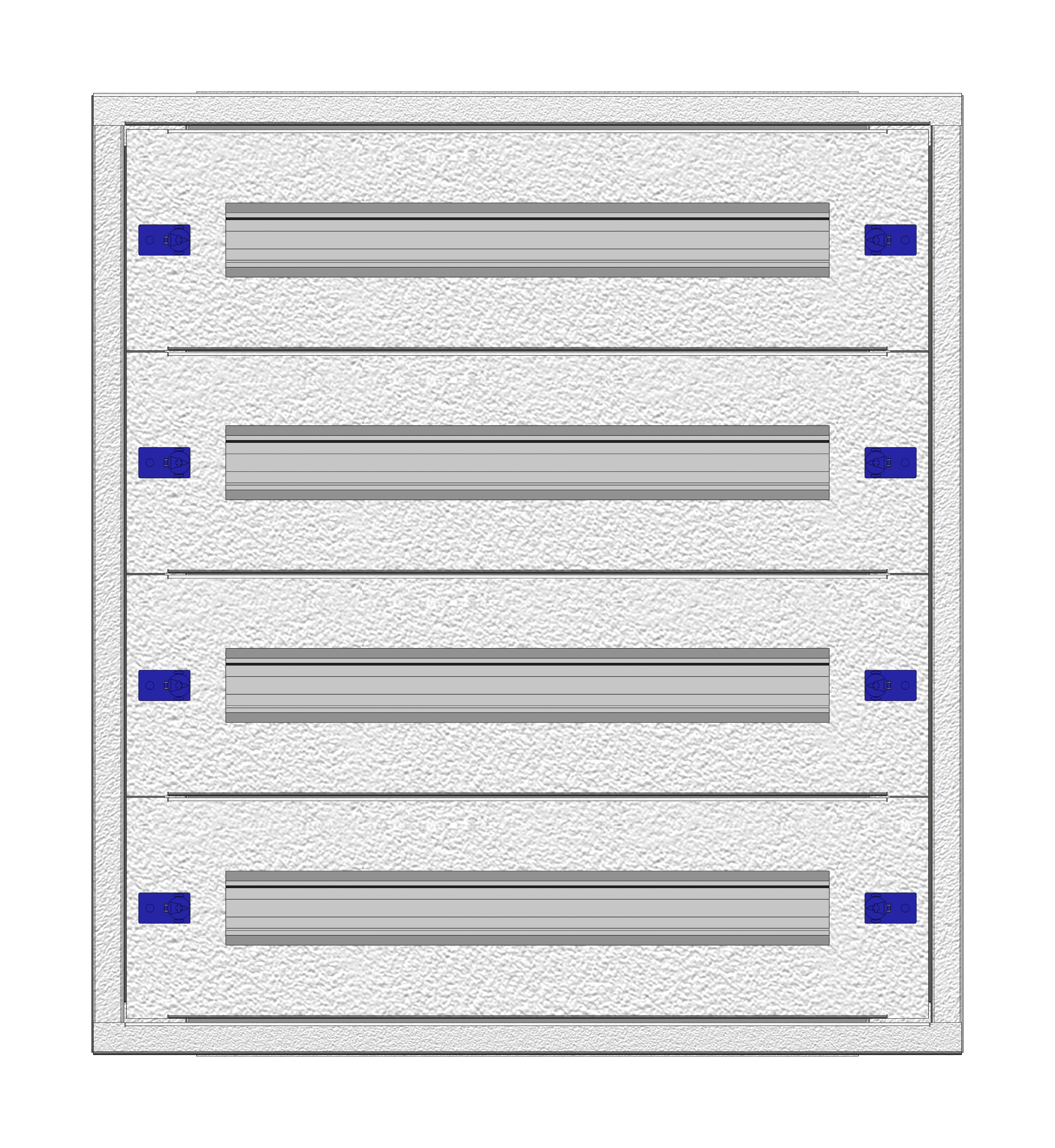 1 Stk Installationsverteiler Einsatz 2-12K, 4-reihig, Stahlblech IL148212--