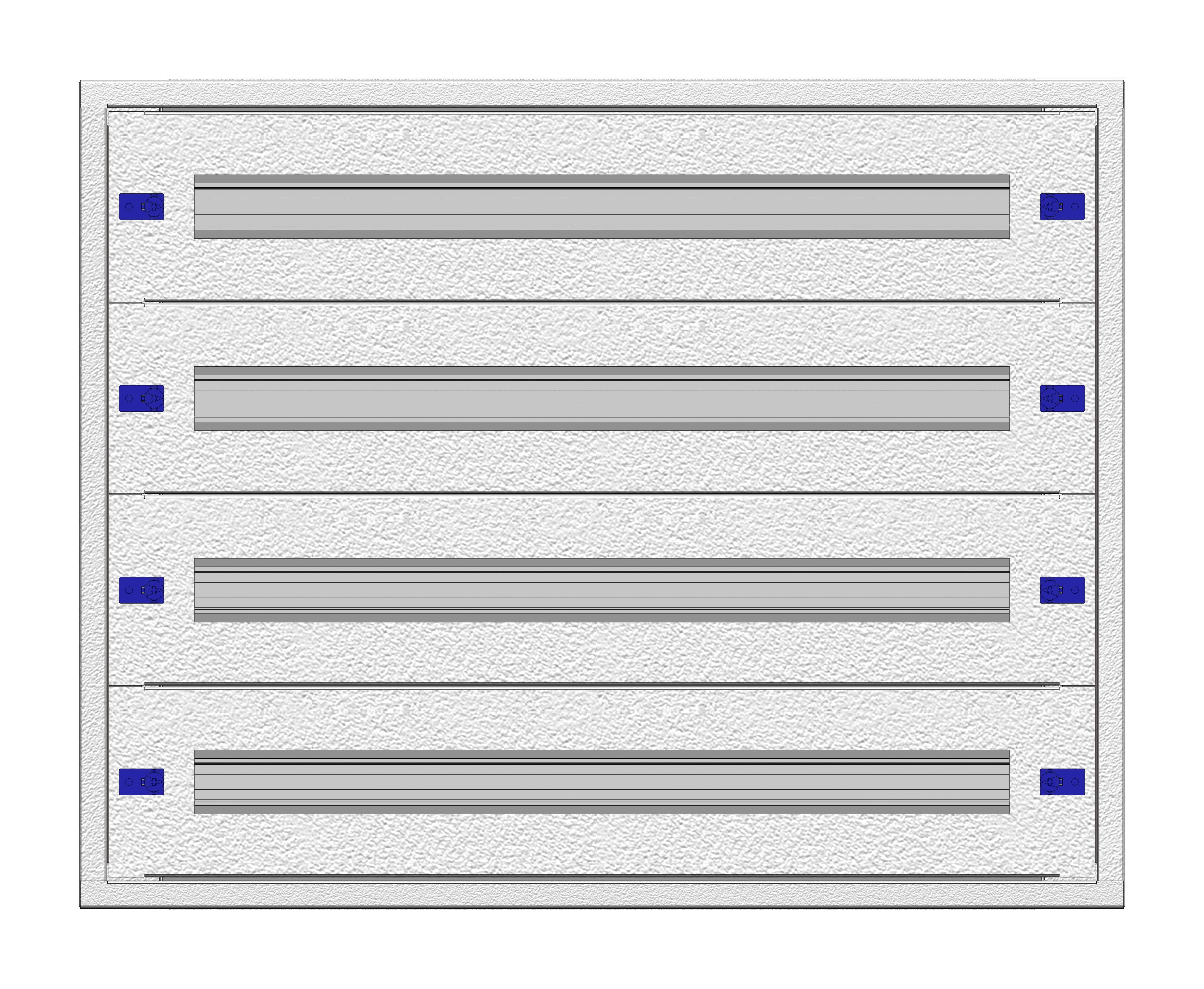 1 Stk Installationsverteiler Einsatz 3-12K, 4-reihig, Stahlblech IL148312--