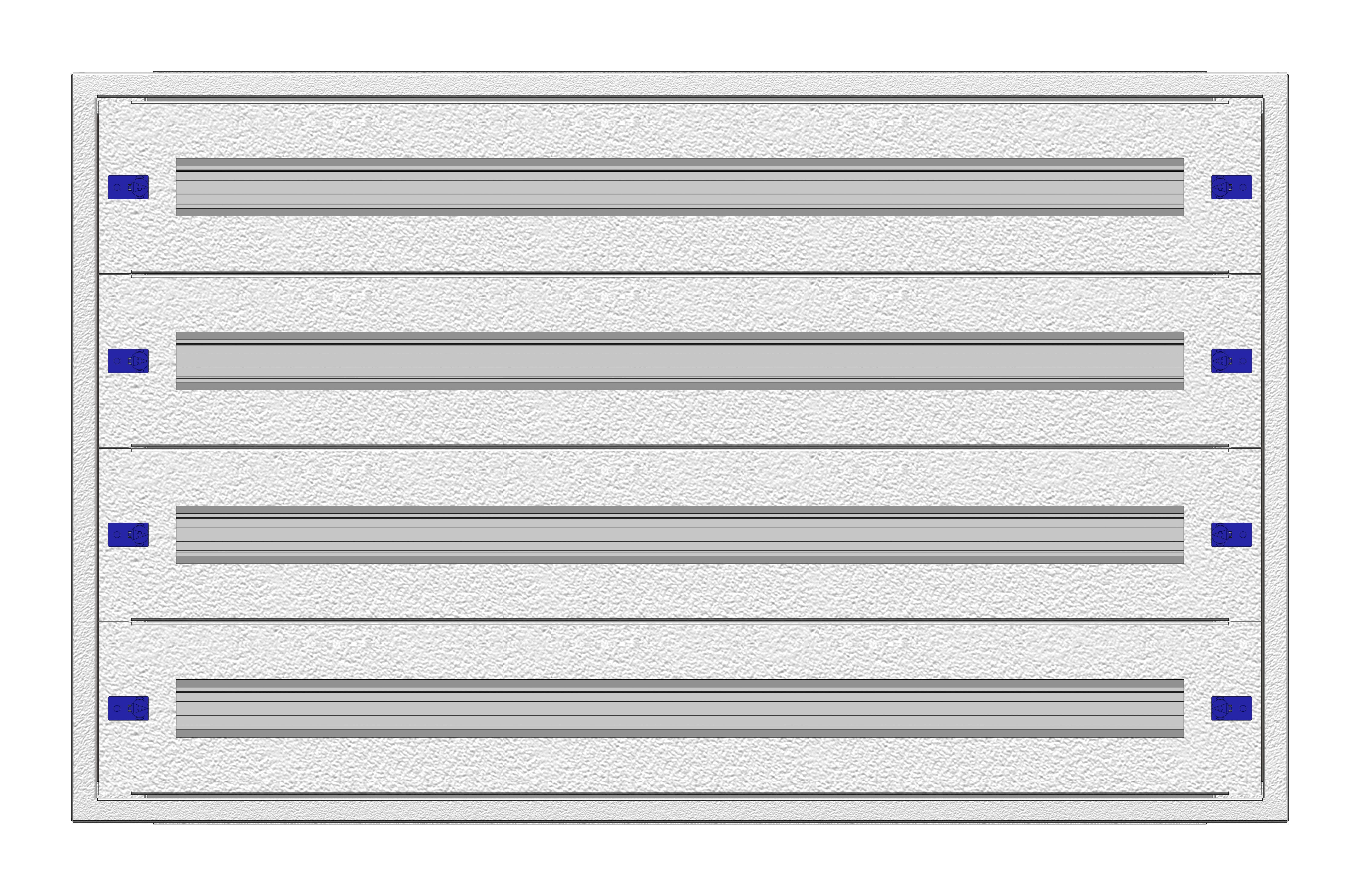 1 Stk Installationsverteiler Einsatz 4-12K, 4-reihig, Stahlblech IL148412--