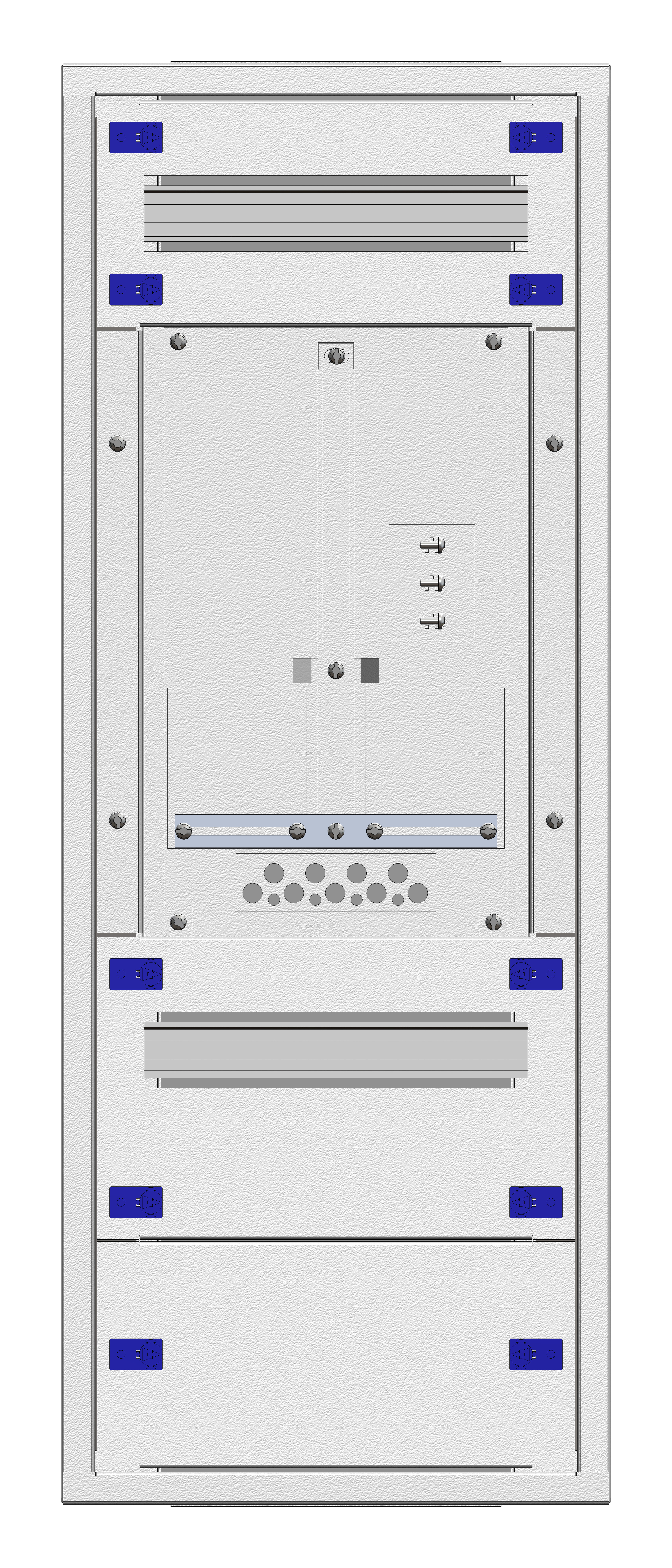 1 Stk Aufputz-Zählerverteiler 1A-18E/OOE 1ZP, H915B380T250mm IL160118OS