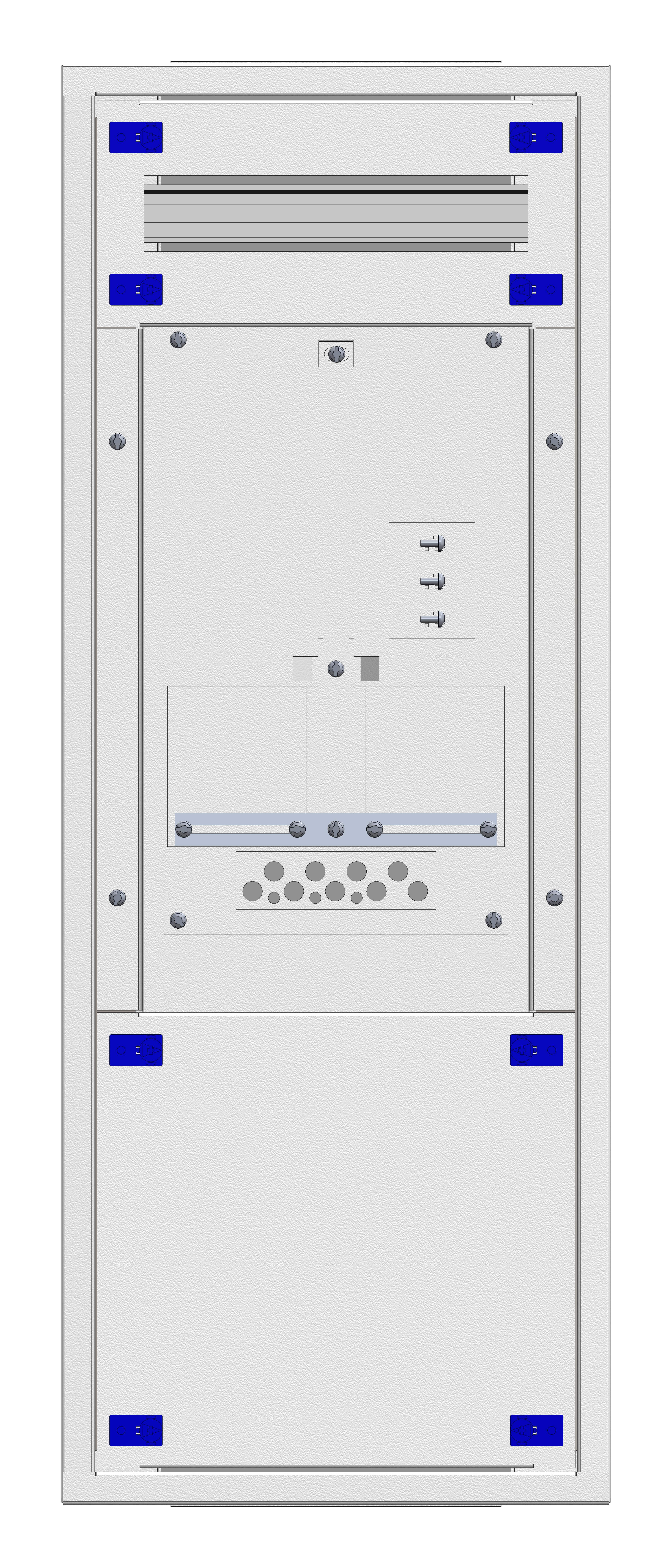 1 Stk Aufputz-Zählerverteiler 1A-18E/SBG 1ZP, H915B380T250mm IL160118SS