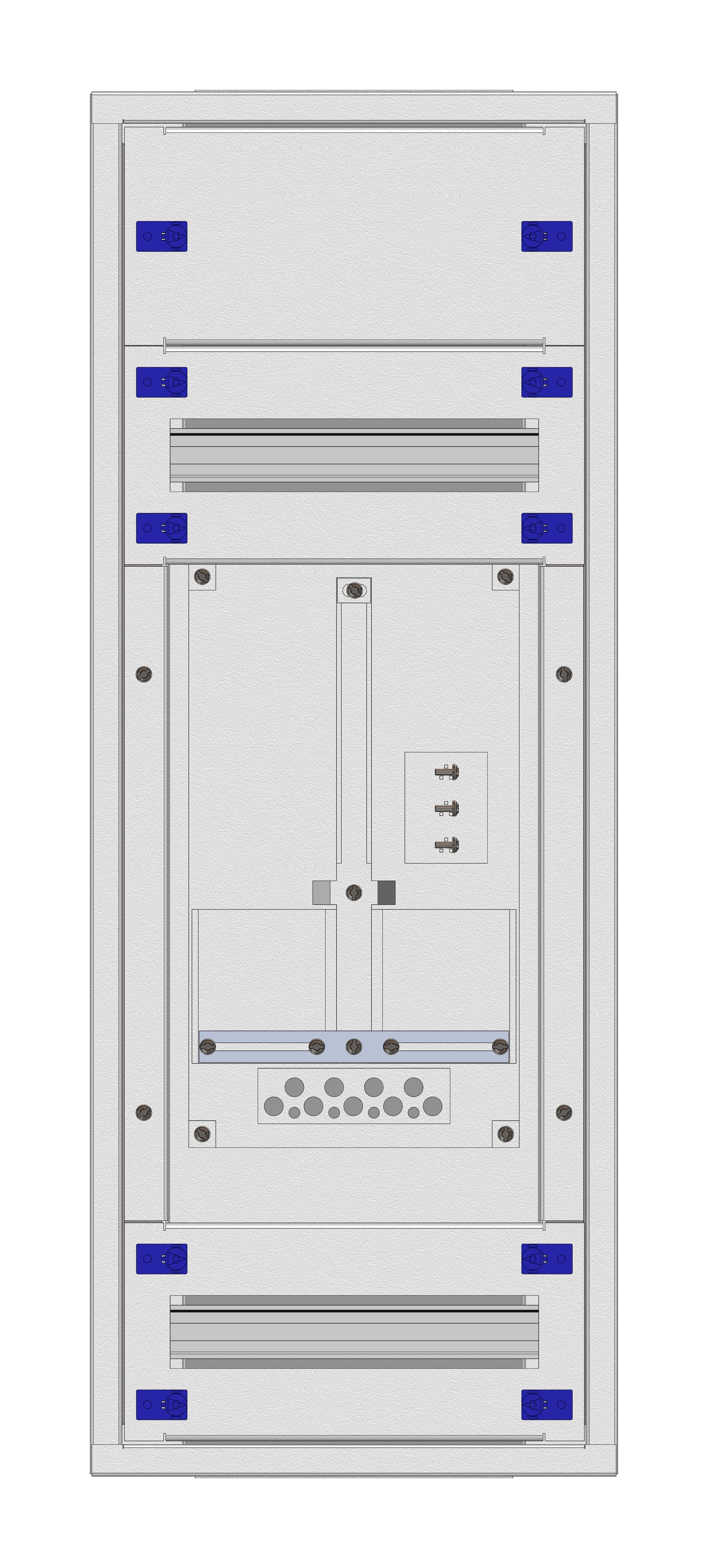 1 Stk Aufputz-Zählerverteiler 1A-18E/VBG 1ZP, H915B380T250mm IL160118VS