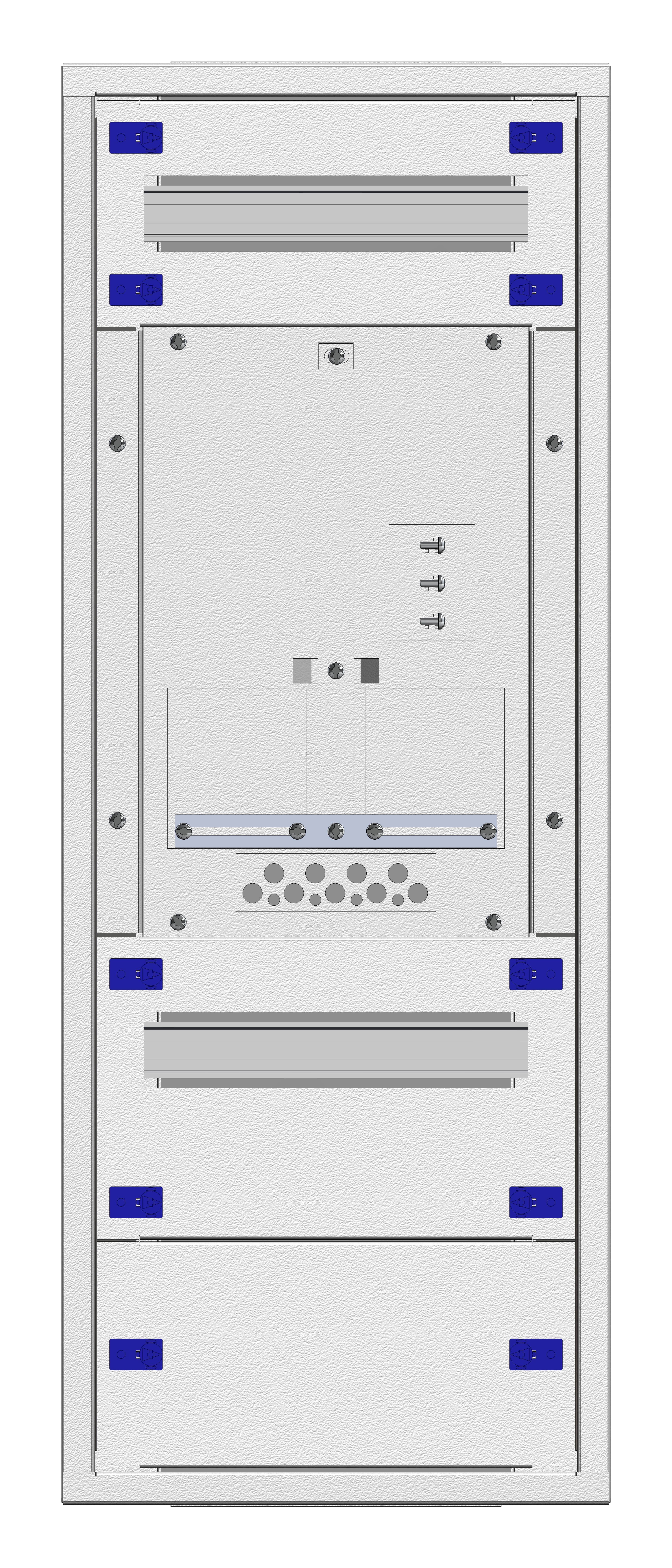 1 Stk Aufputz-Zählerverteiler 1A-18E/WIEN 1ZP, H915B380T250mm IL160118WS