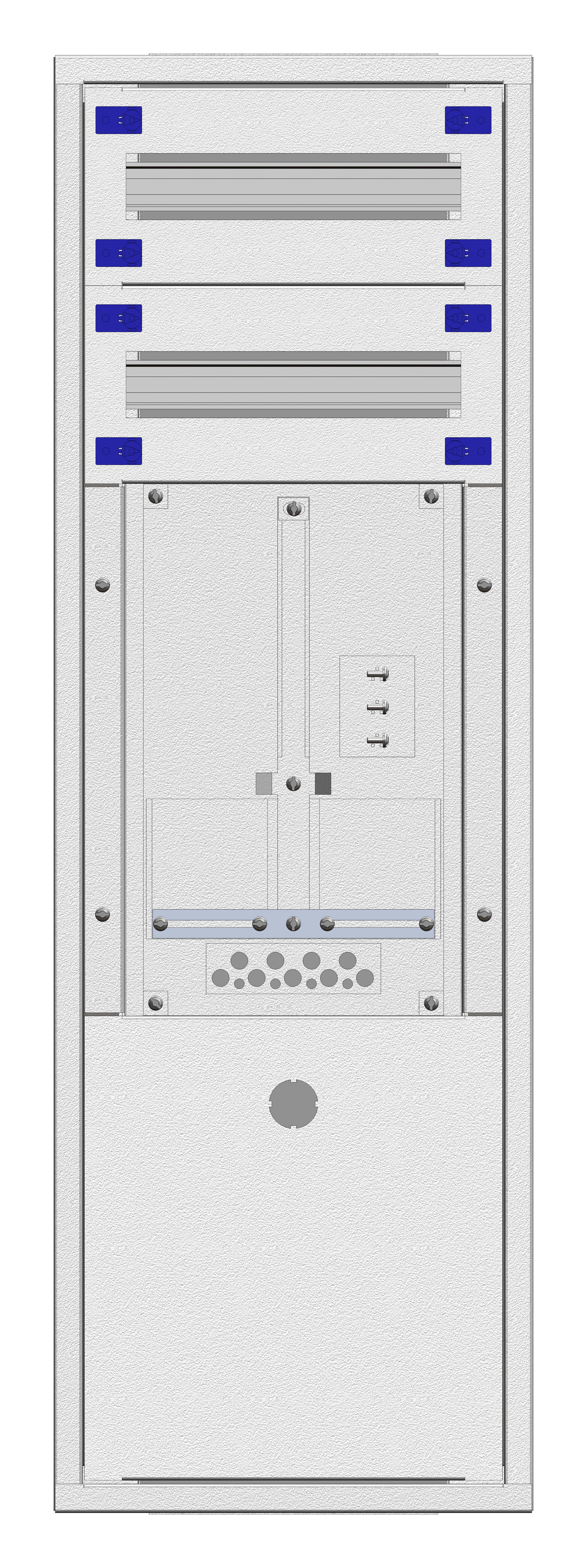 1 Stk Aufputz-Zählerverteiler 1A-21E/BGLD 1ZP, H1055B380T250mm IL160121BS