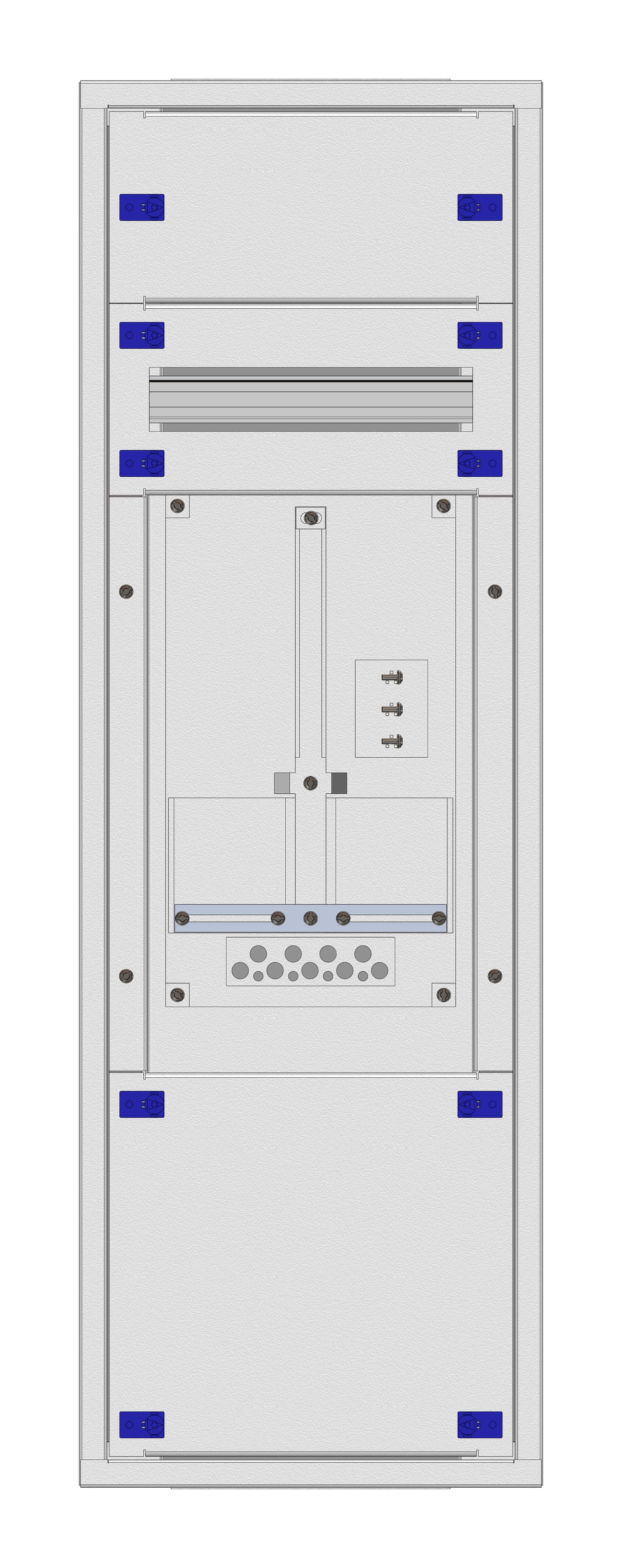1 Stk Aufputz-Zählerverteiler 1A-21F/KTN 1ZP, H1055B380T250mm IL160121KK