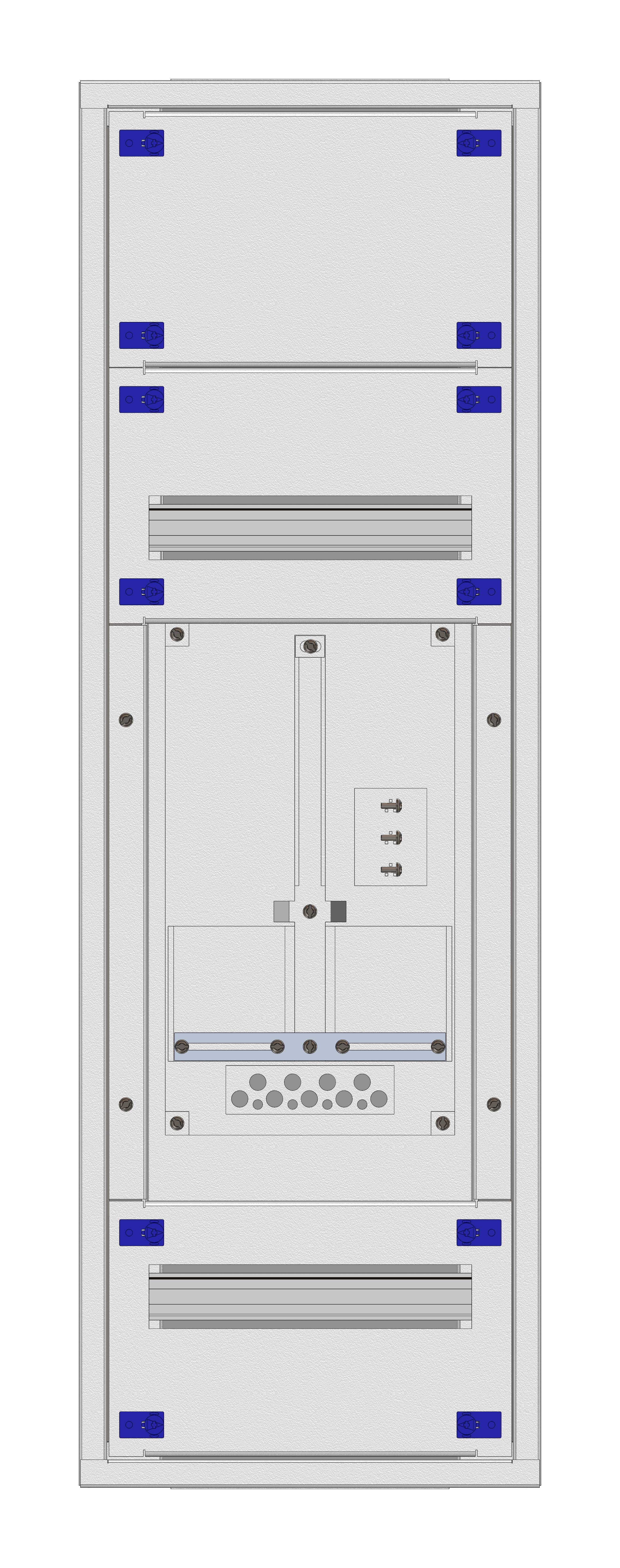 1 Stk Aufputz-Zählerverteiler 1A-21E/VBG 1ZP, H1055B380T250mm IL160121VS