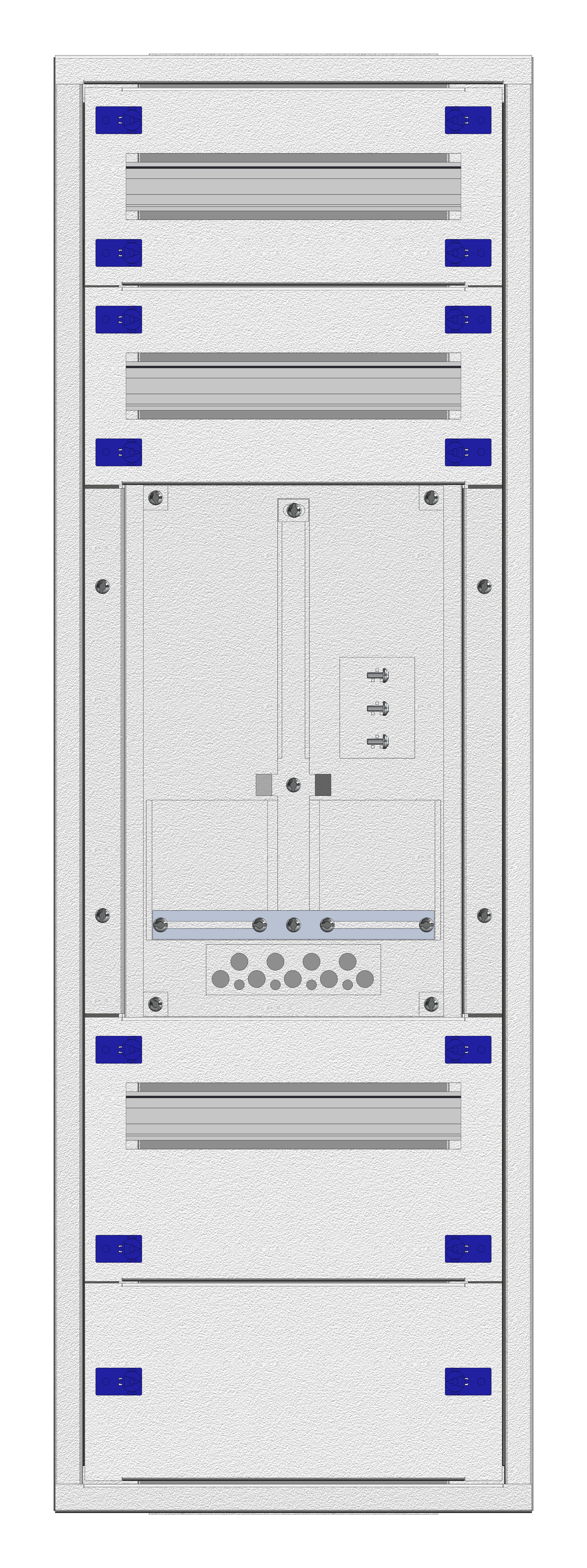 1 Stk Aufputz-Zählerverteiler 1A-21E/WIEN 1ZP, H1055B380T250mm IL160121WS