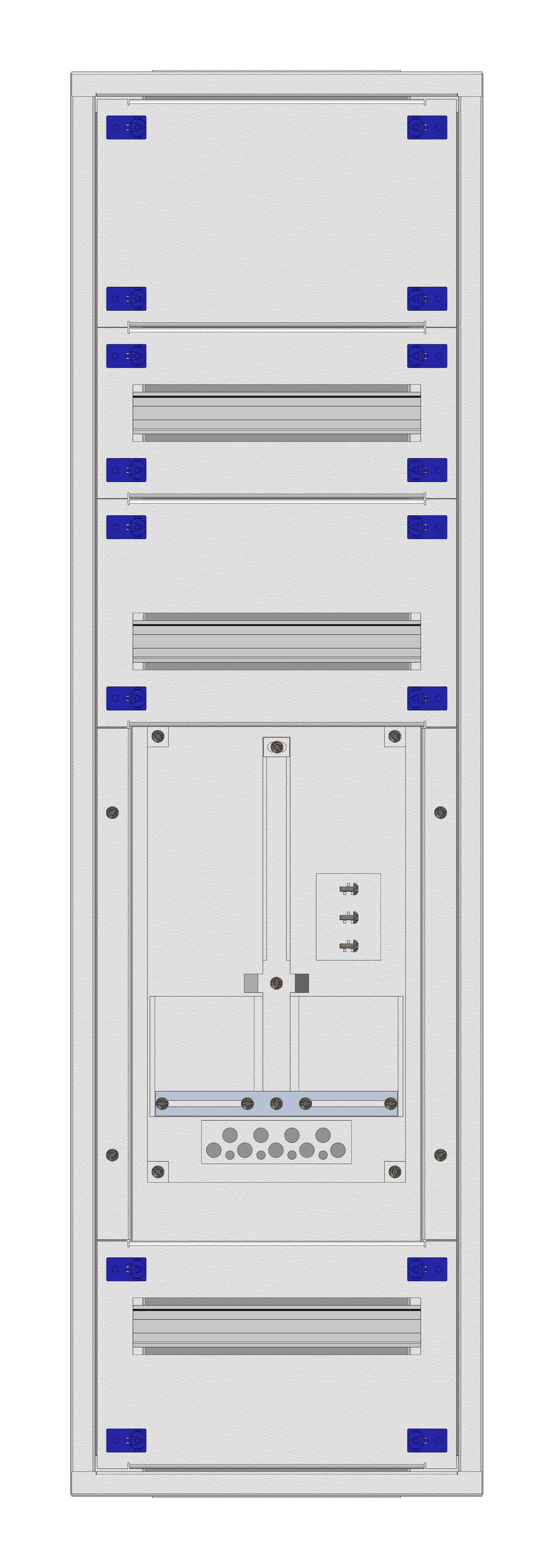 1 Stk Aufputz-Zählerverteiler 1A-24E/VBG 1ZP, H1195B380T250mm IL160124VS