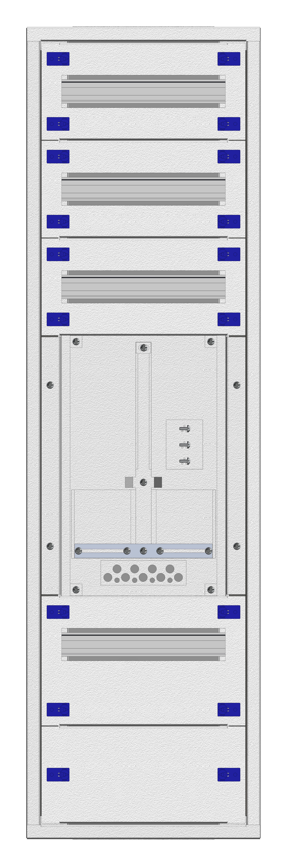 1 Stk Aufputz-Zählerverteiler 1A-24E/WIEN 1ZP, H1195B380T250mm IL160124WS