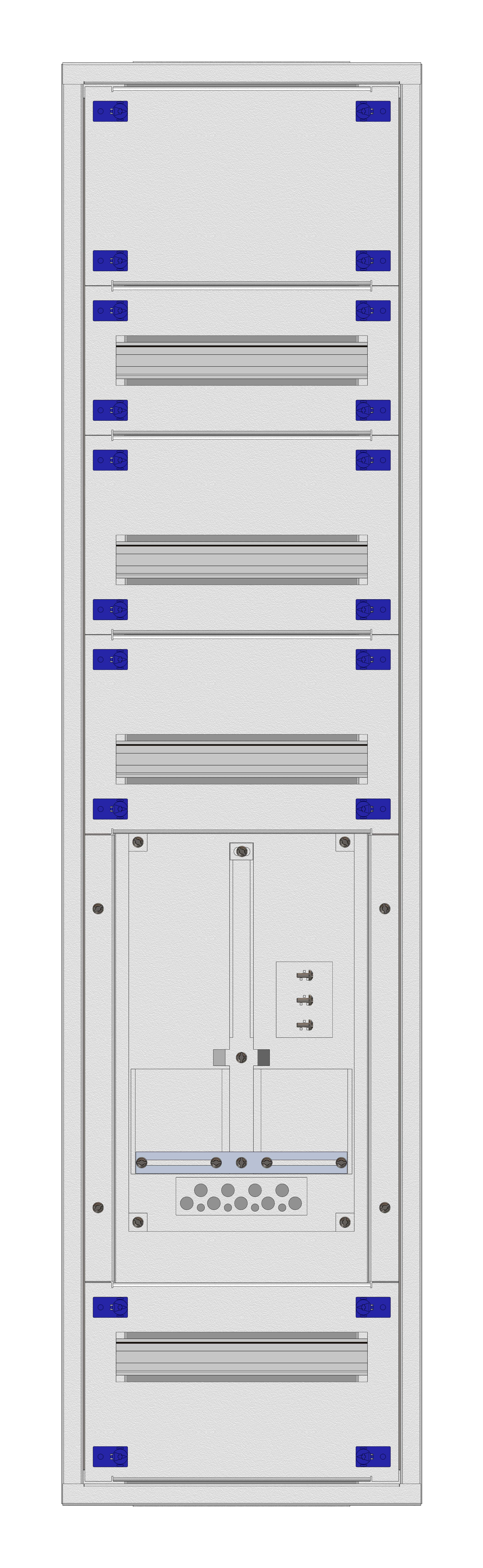 1 Stk Aufputz-Zählerverteiler 1A-28E/VBG 1ZP, H1380B380T250mm IL160128VS