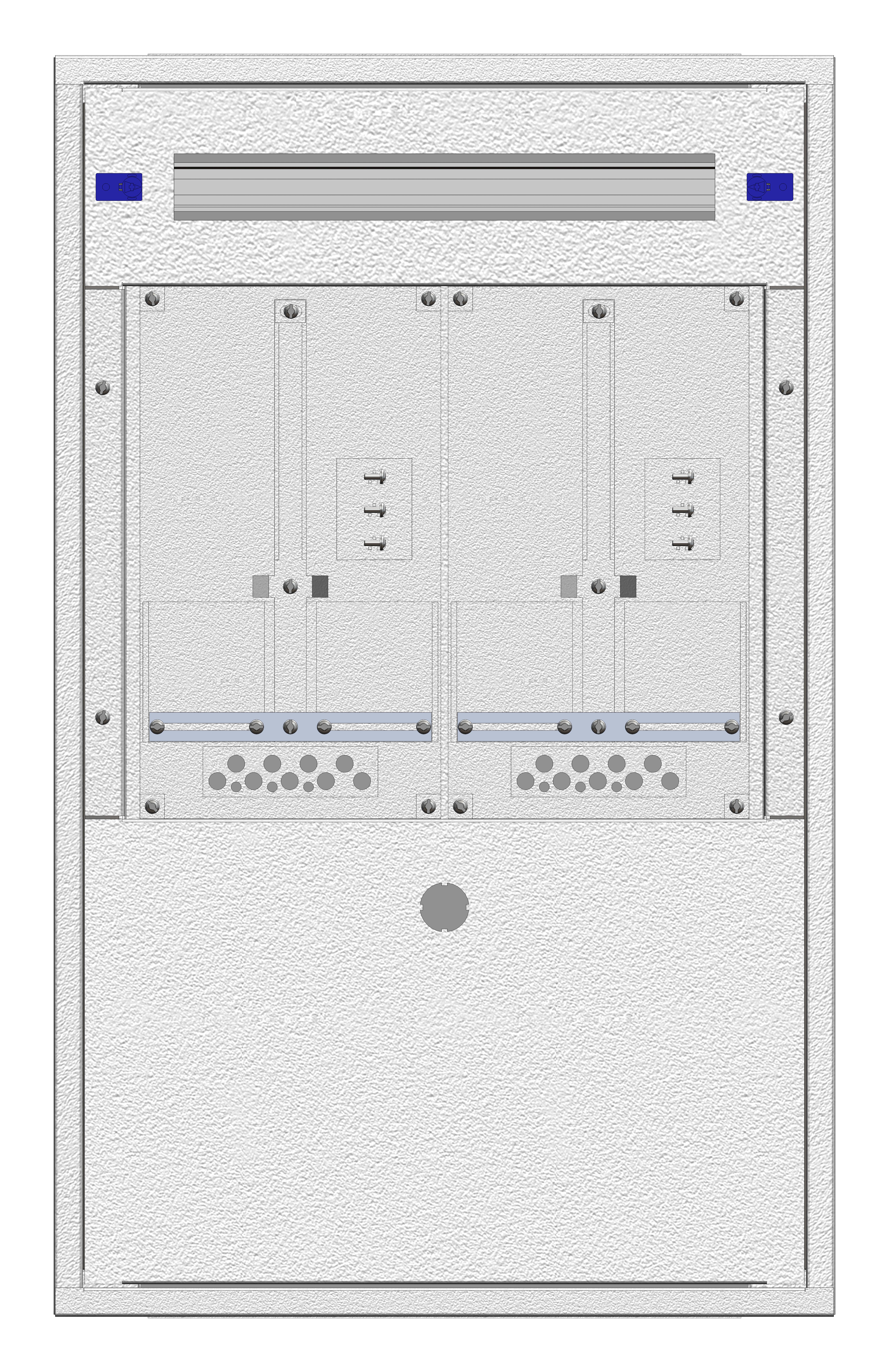 1 Stk Aufputz-Zählerverteiler 2A-18E/BGLD 2ZP, H915B590T250mm IL160218BS