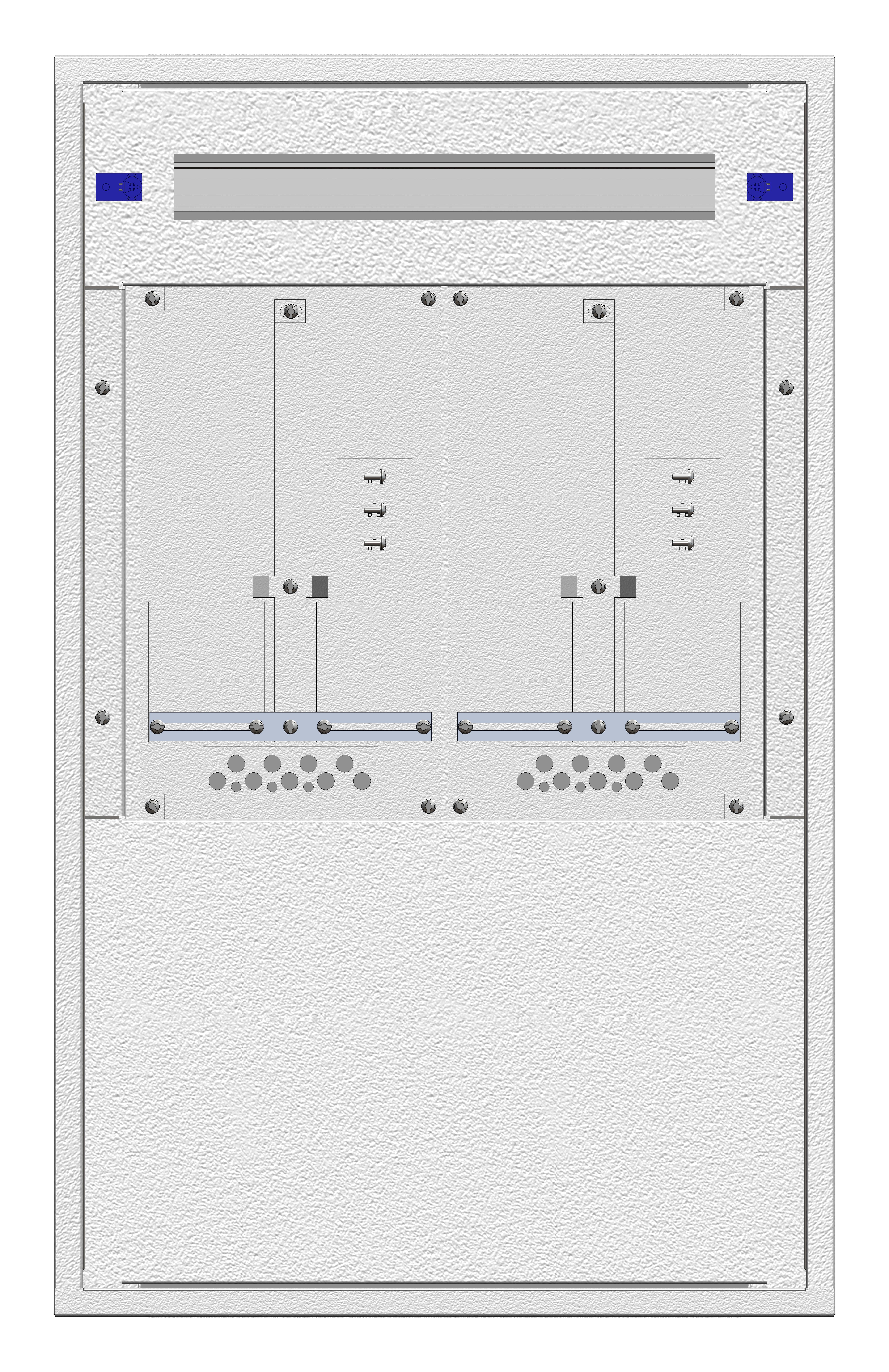 1 Stk Aufputz-Zählerverteiler 2A-18E/NOE 2ZP, H915B590T250mm IL160218NS