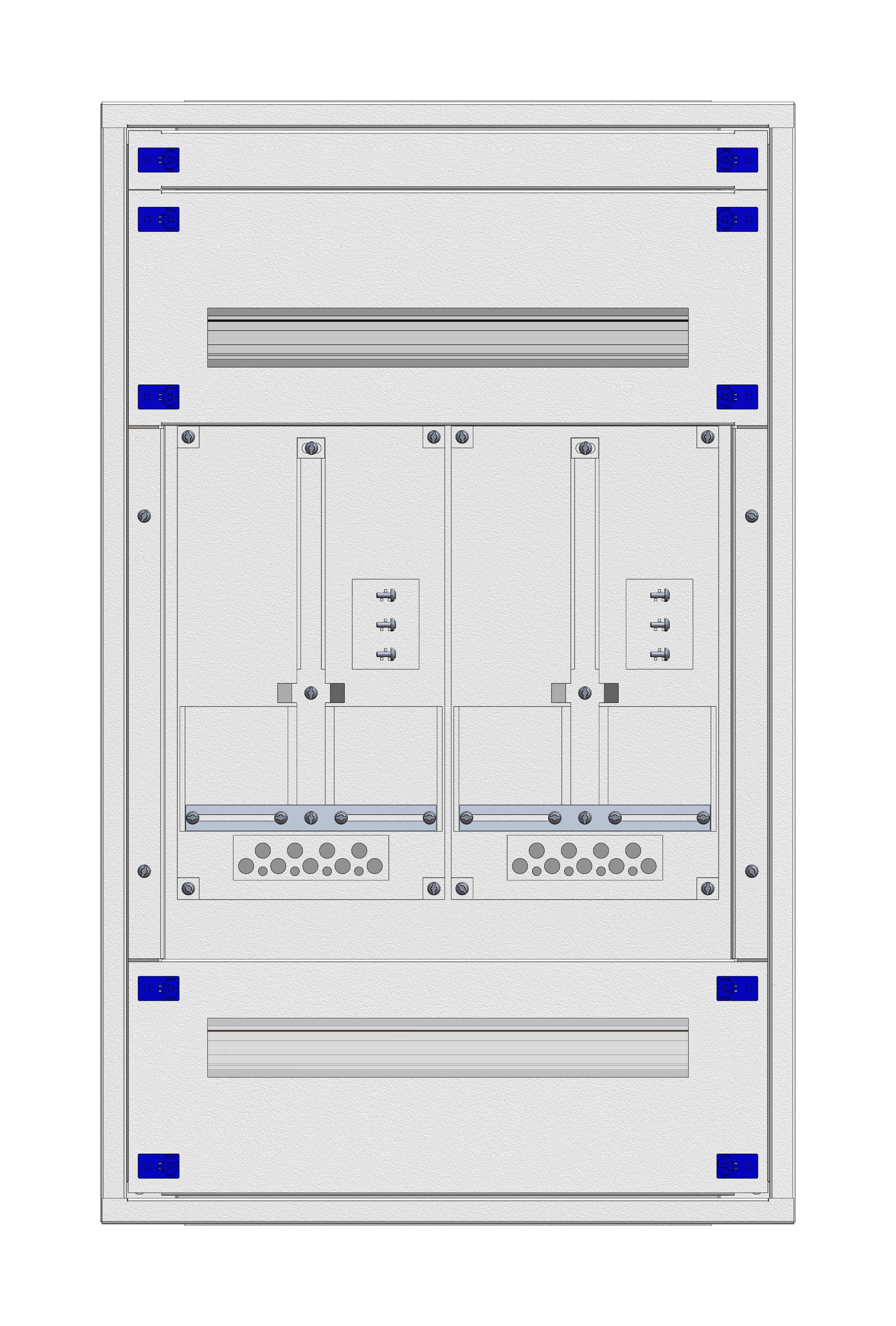1 Stk Aufputz-Zählerverteiler 2A-18E/VBG 2ZP, H915B590T250mm IL160218VS