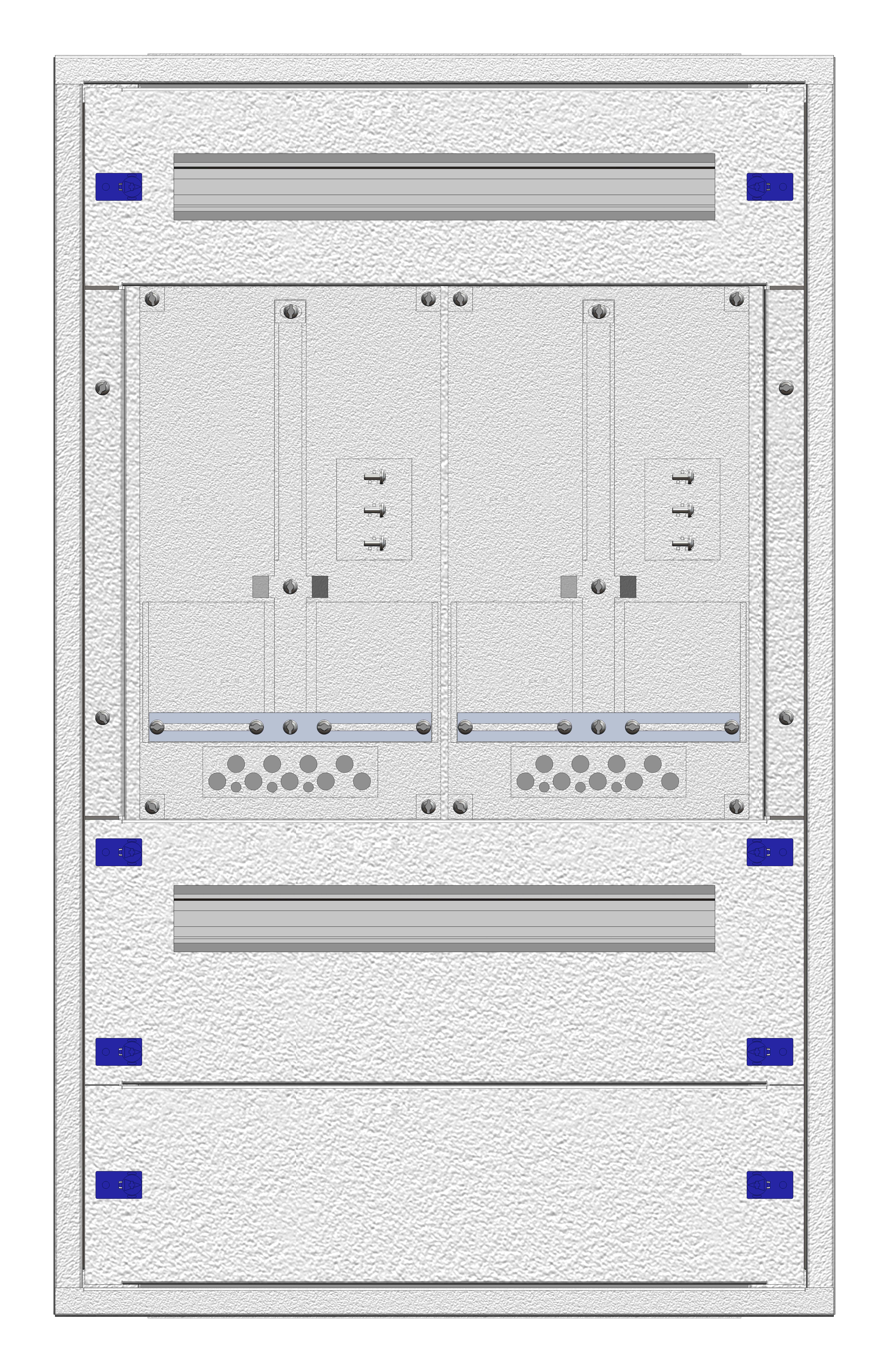 1 Stk Aufputz-Zählerverteiler 2A-18E/WIEN 2ZP, H915B590T250mm IL160218WS