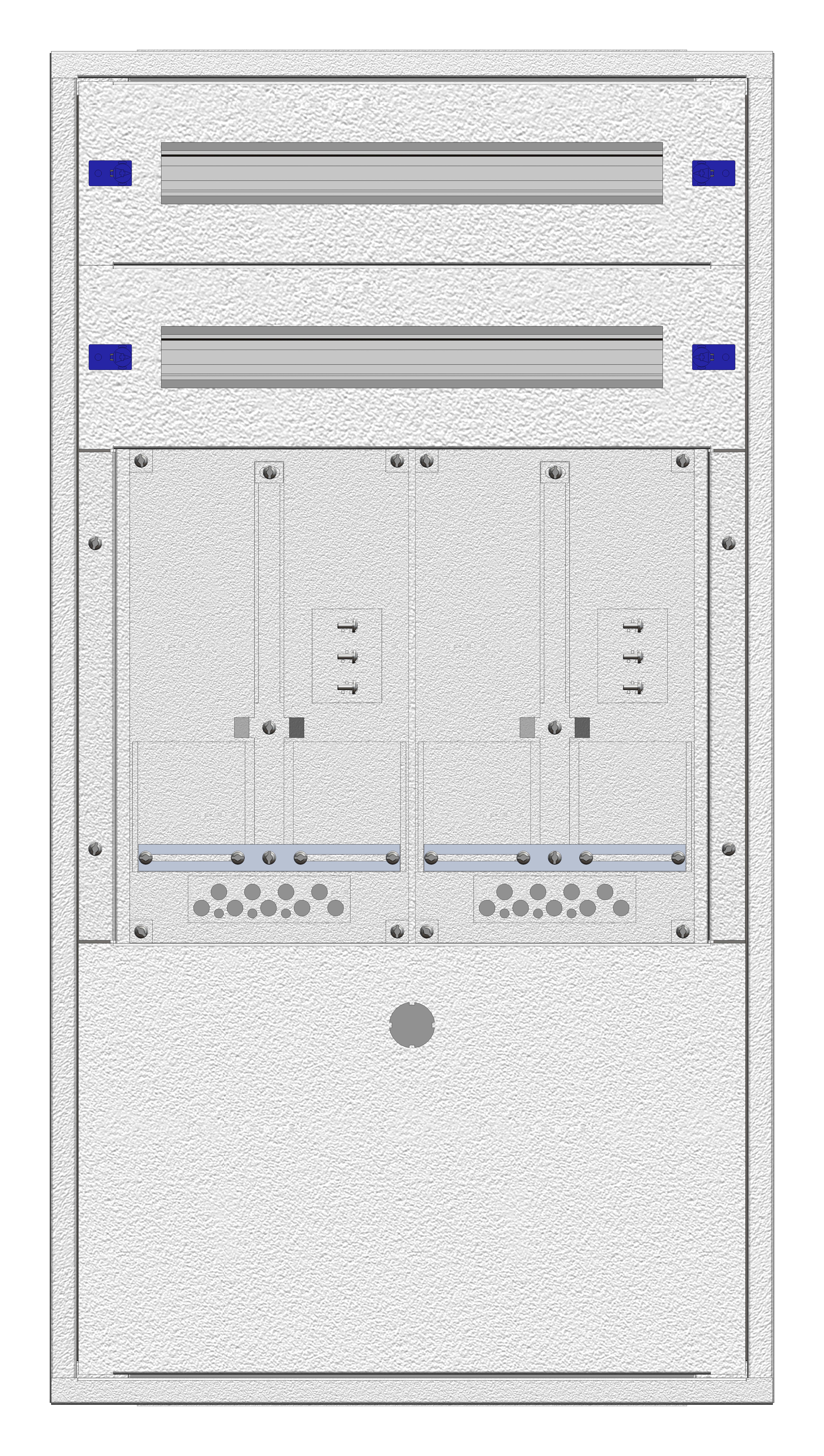 1 Stk Aufputz-Zählerverteiler 2A-21E/BGLD 2ZP, H1055B590T250mm IL160221BS