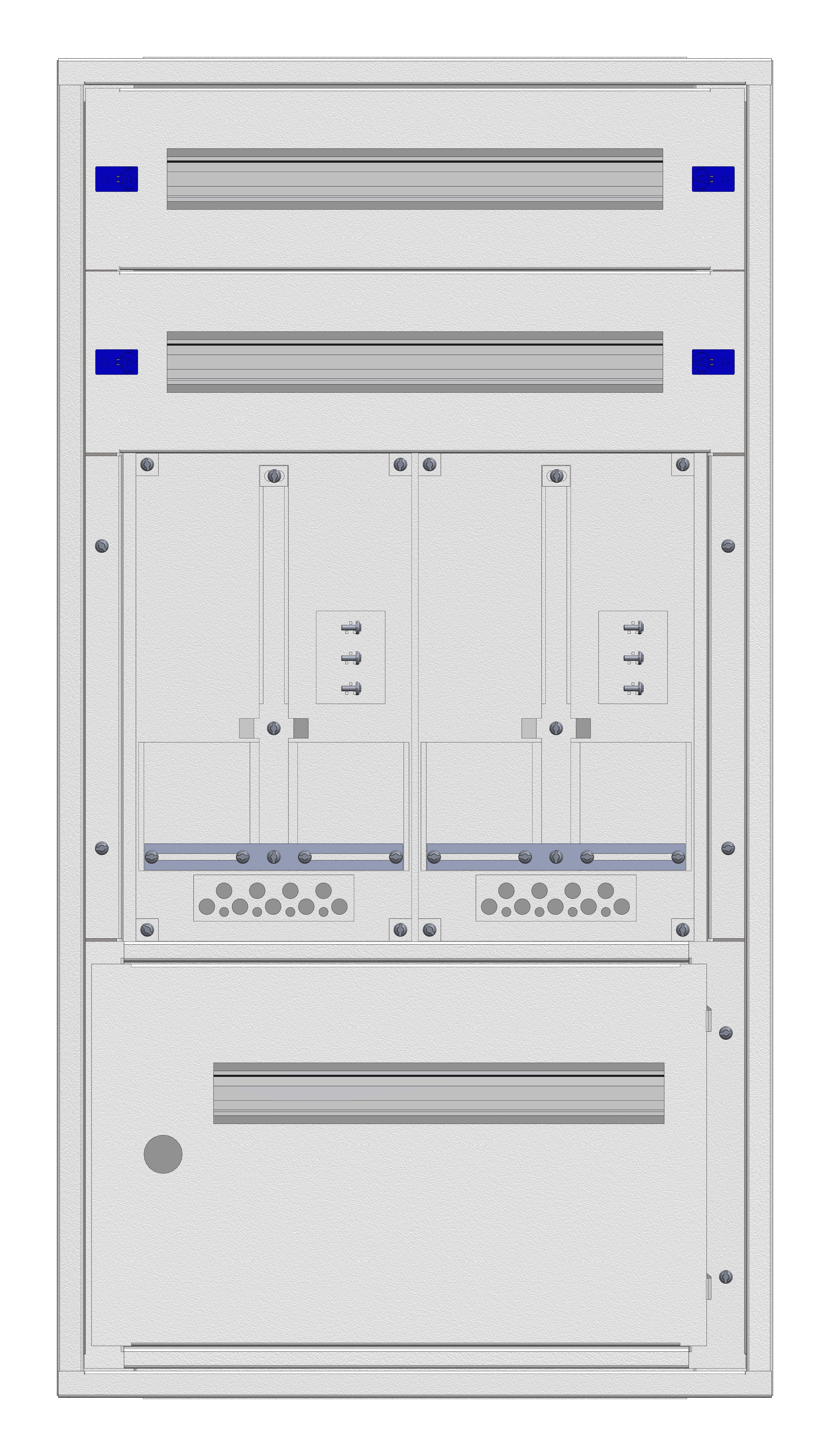 1 Stk Aufputz-Zählerverteiler 2A-21E/STMK 2ZP, H1055B590T250mm IL160221GS